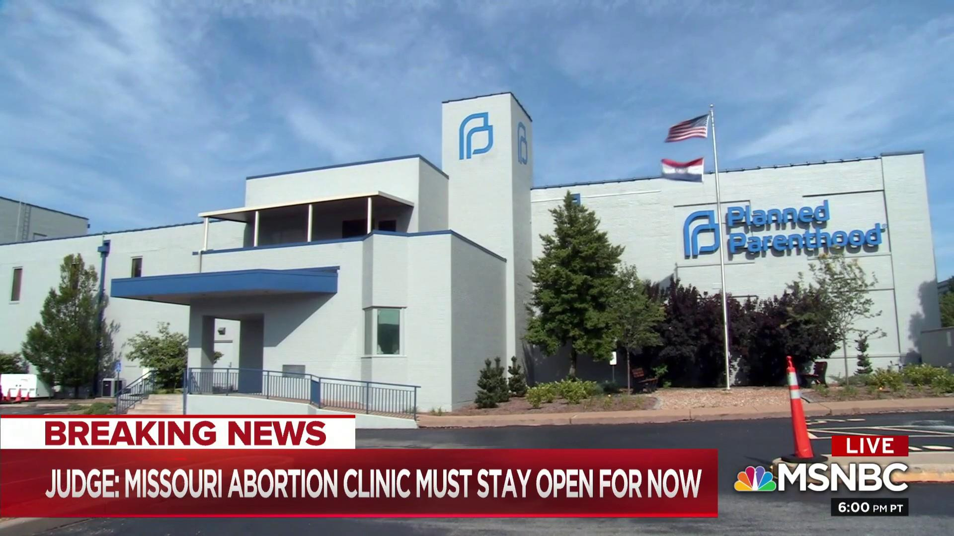 Judge grants Missouri's last abortion clinic two-week reprieve