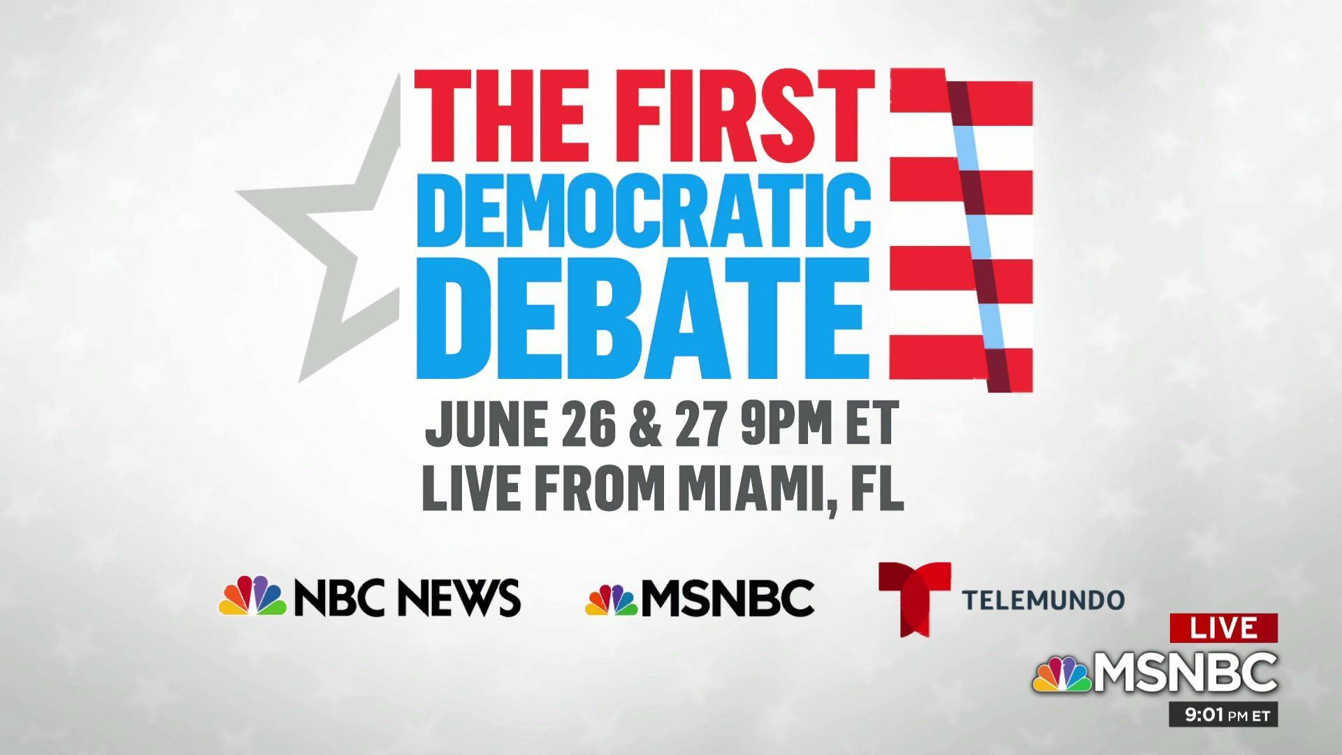 DNC announces first debate details as candidates vie for spots