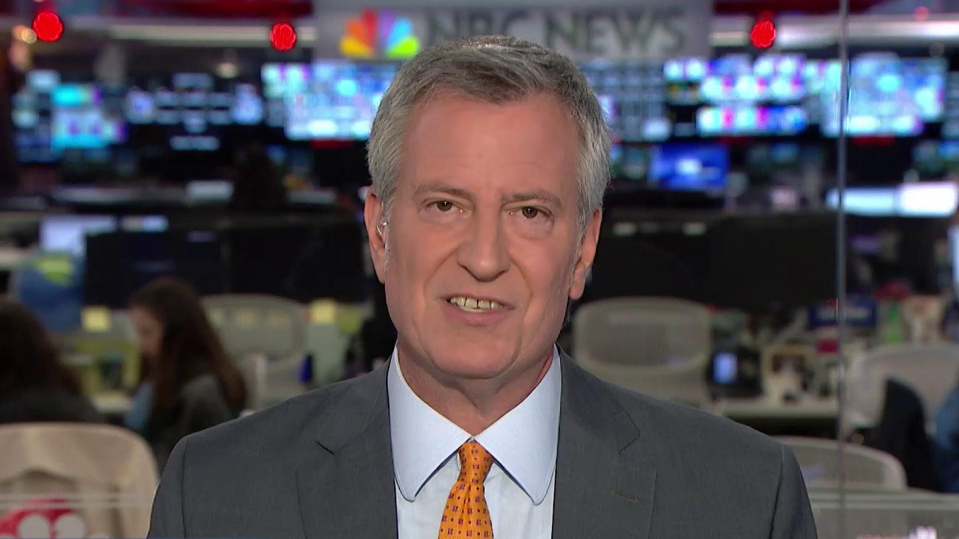 NYC Mayor De Blasio talks Biden's segregationist comments