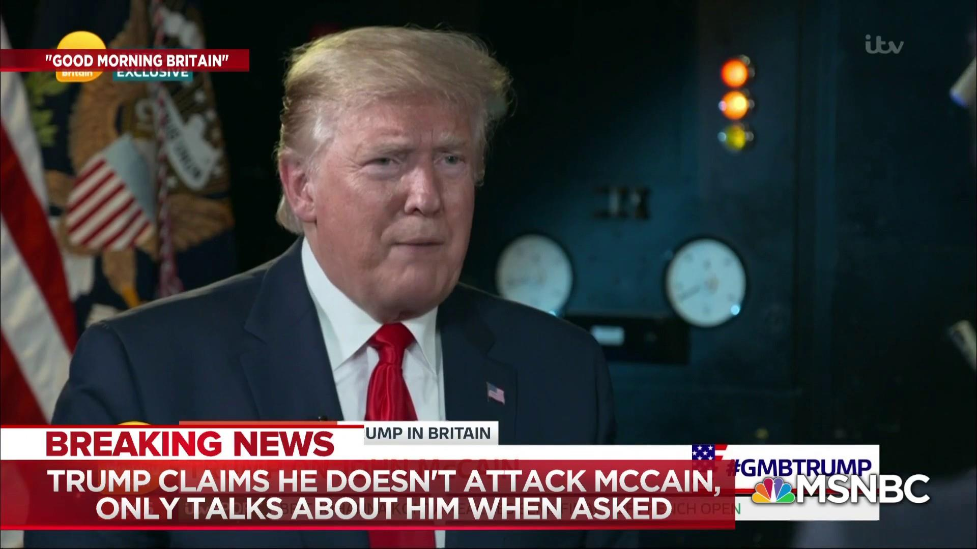 Trump argues that he only talks about McCain when prompted