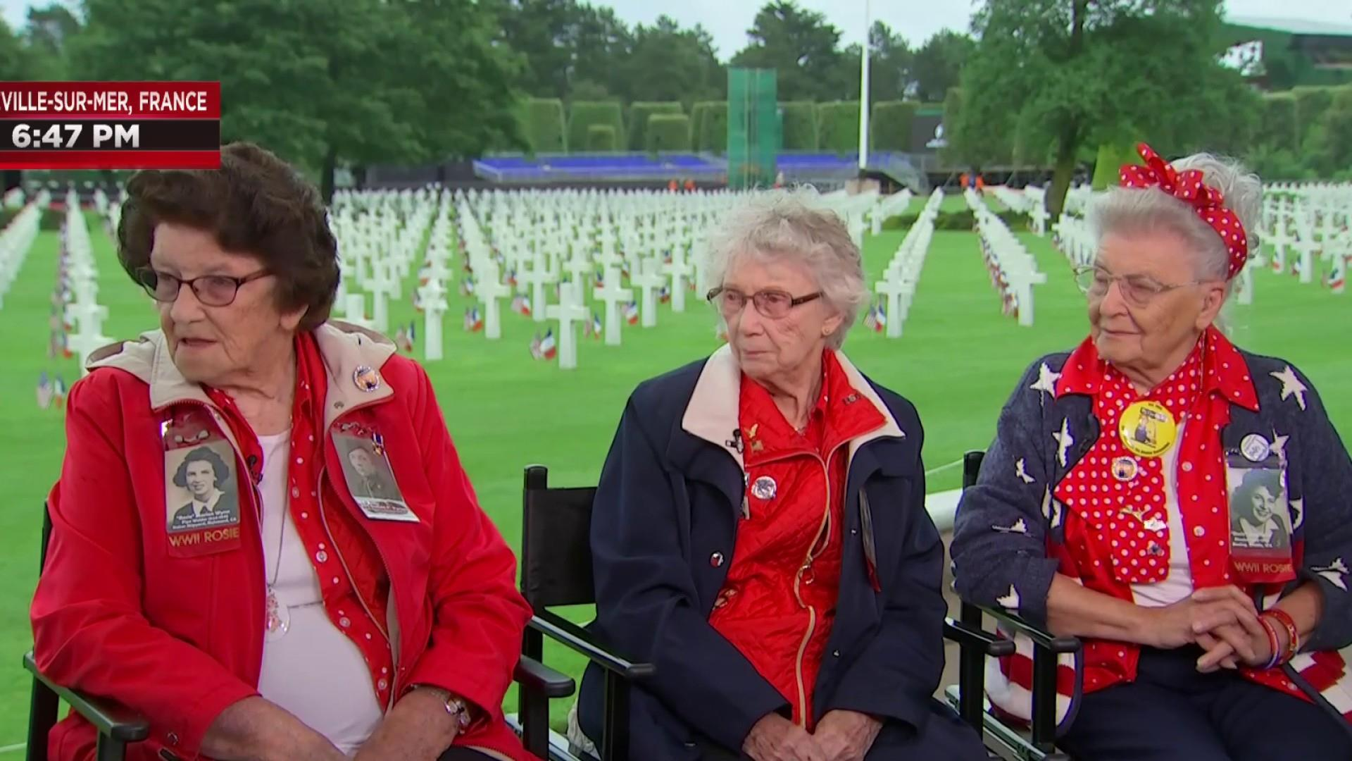 Real-life 'Rosie the Riveters' talk 75th anniversary of D-day