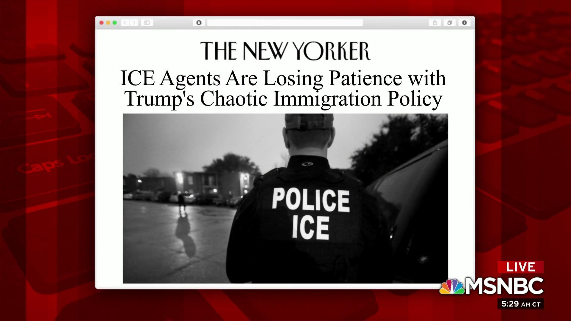 ICE agents lose patience with immigration policy