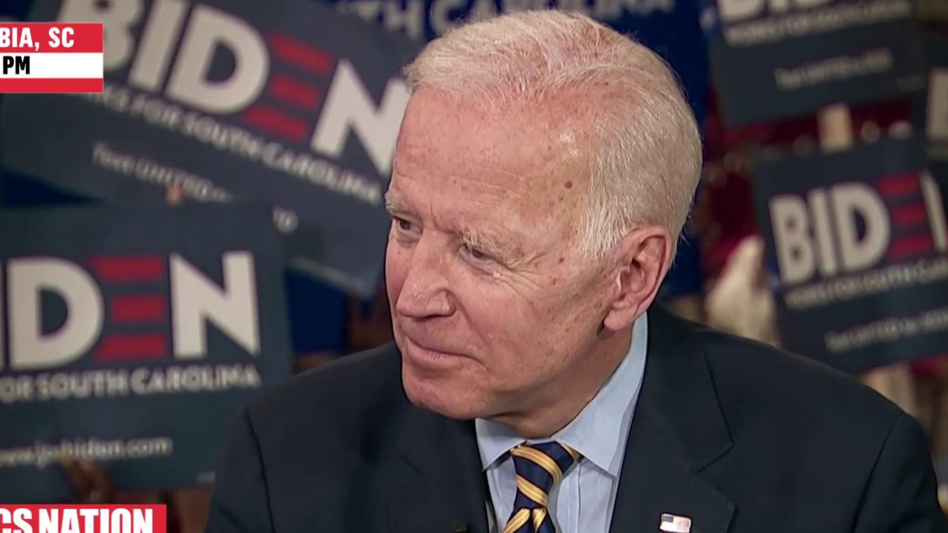Joe Biden responds to controversy over his comments about segregationists