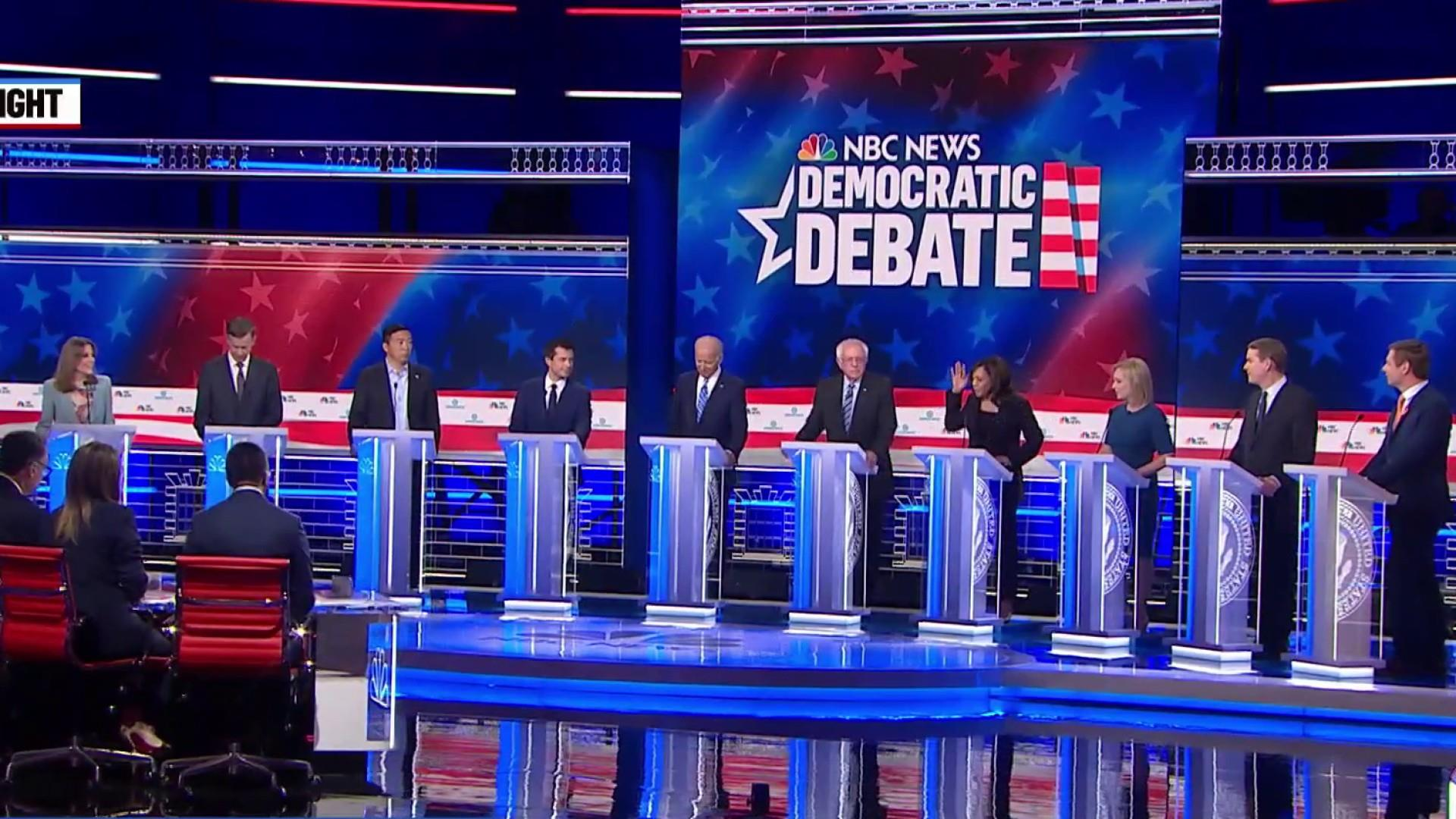 Dems square off in contentious second round of debate