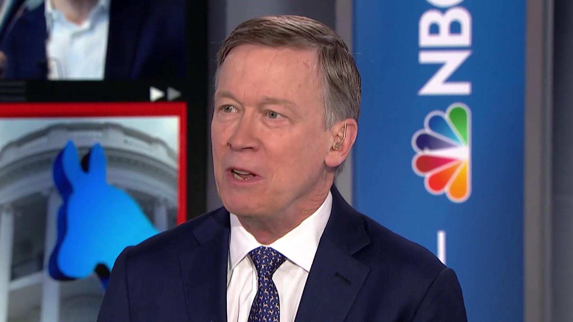 Hickenlooper: 'There is a quiet majority of Democrats frustrated by the parties swing to the left'