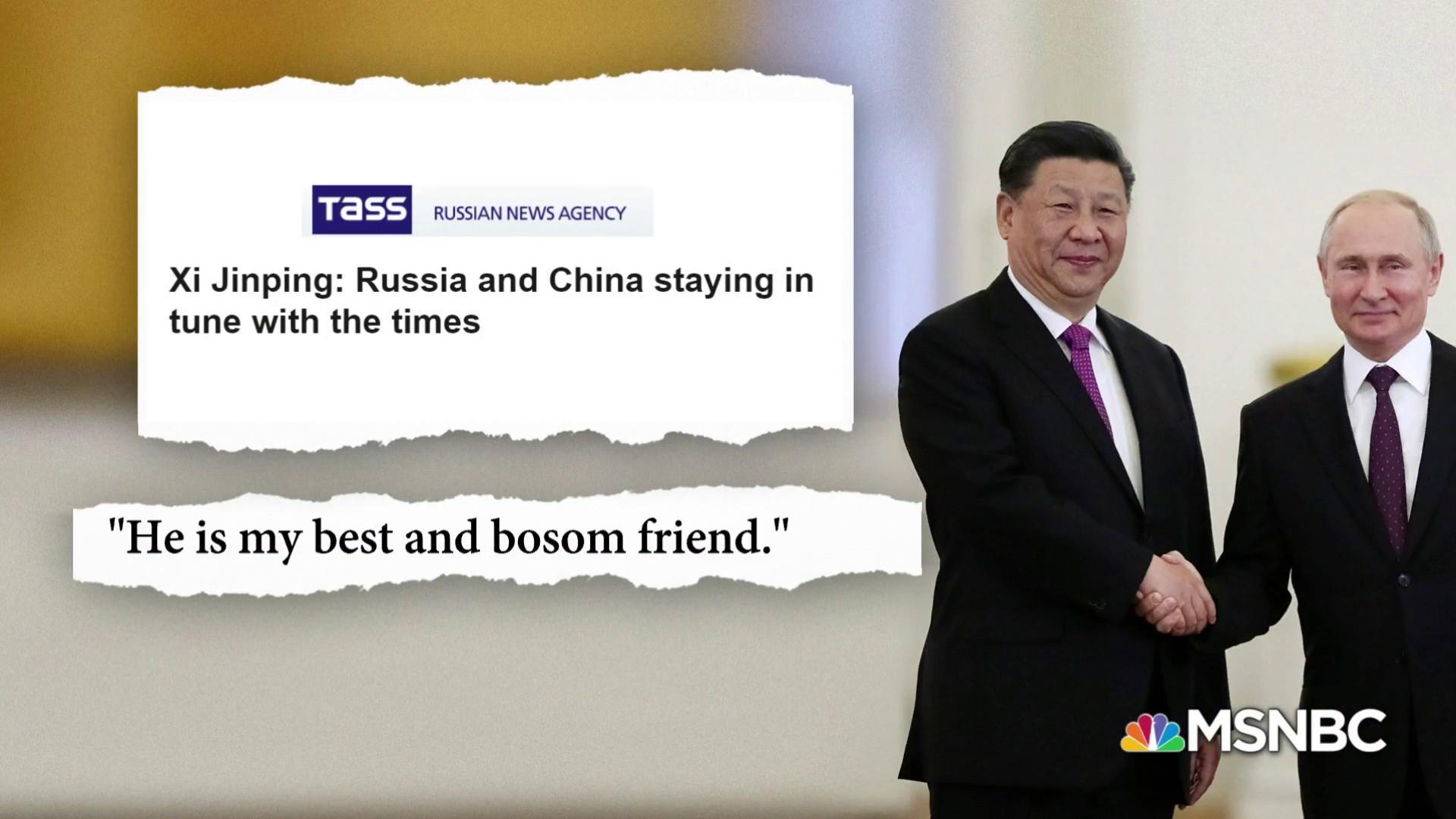 Chinese President Xi Jinping calls Russian Pres. Putin best friend