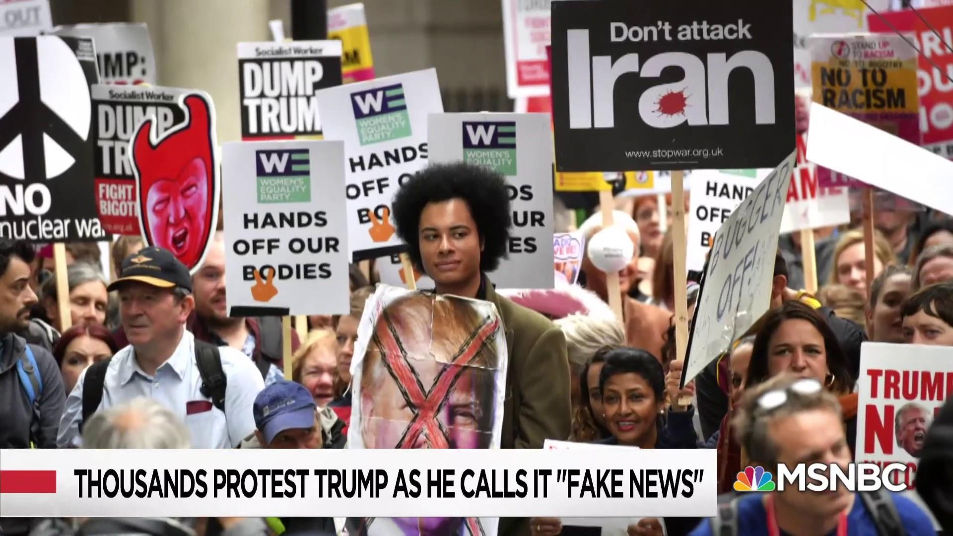 Donald Trump's overseas protest delusion