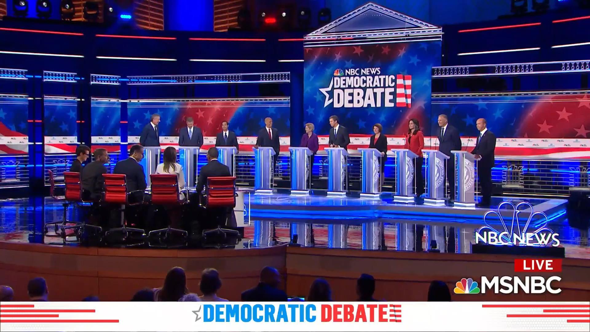 Democratic candidates described the biggest threat to the U.S.