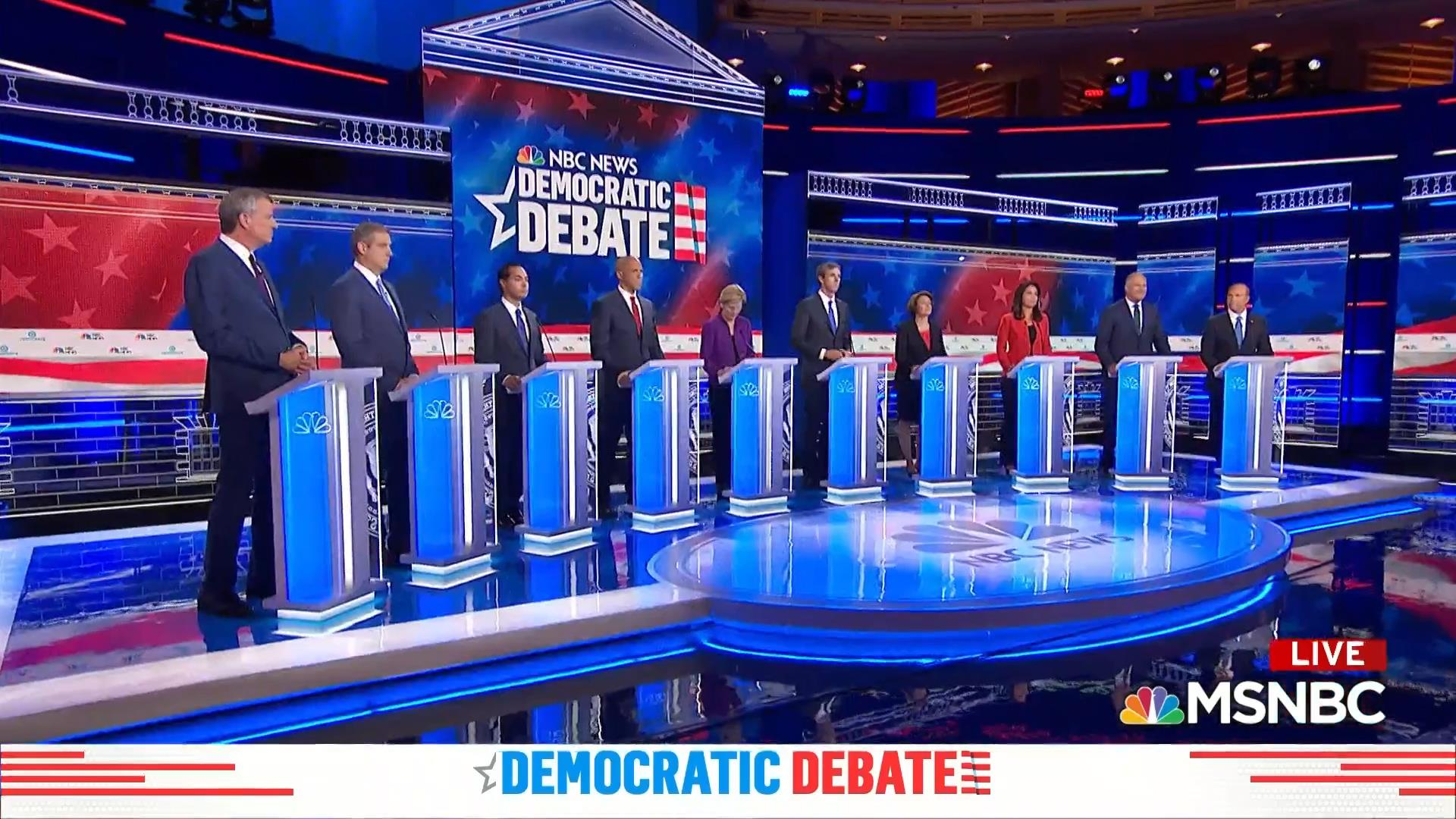 Democratic candidates called for unity in closing remarks