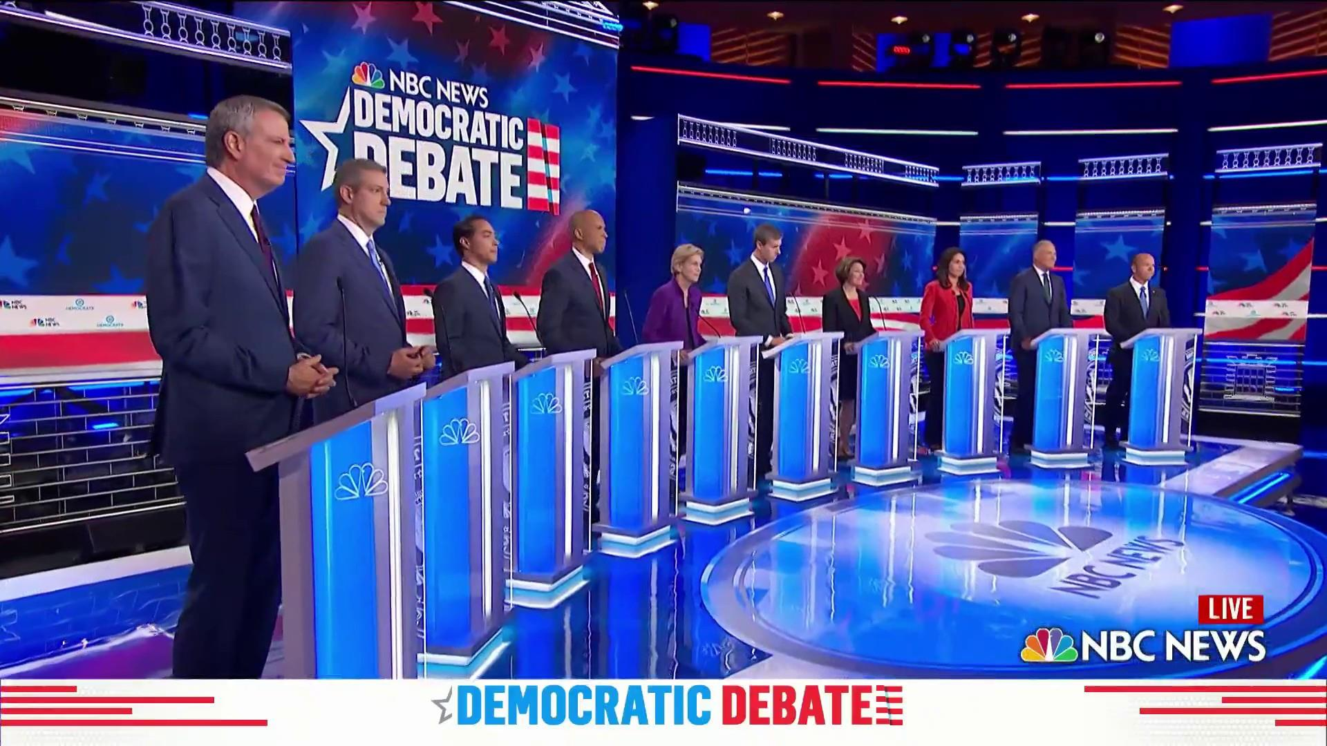 Watch closing statements of the Democratic debate's first night