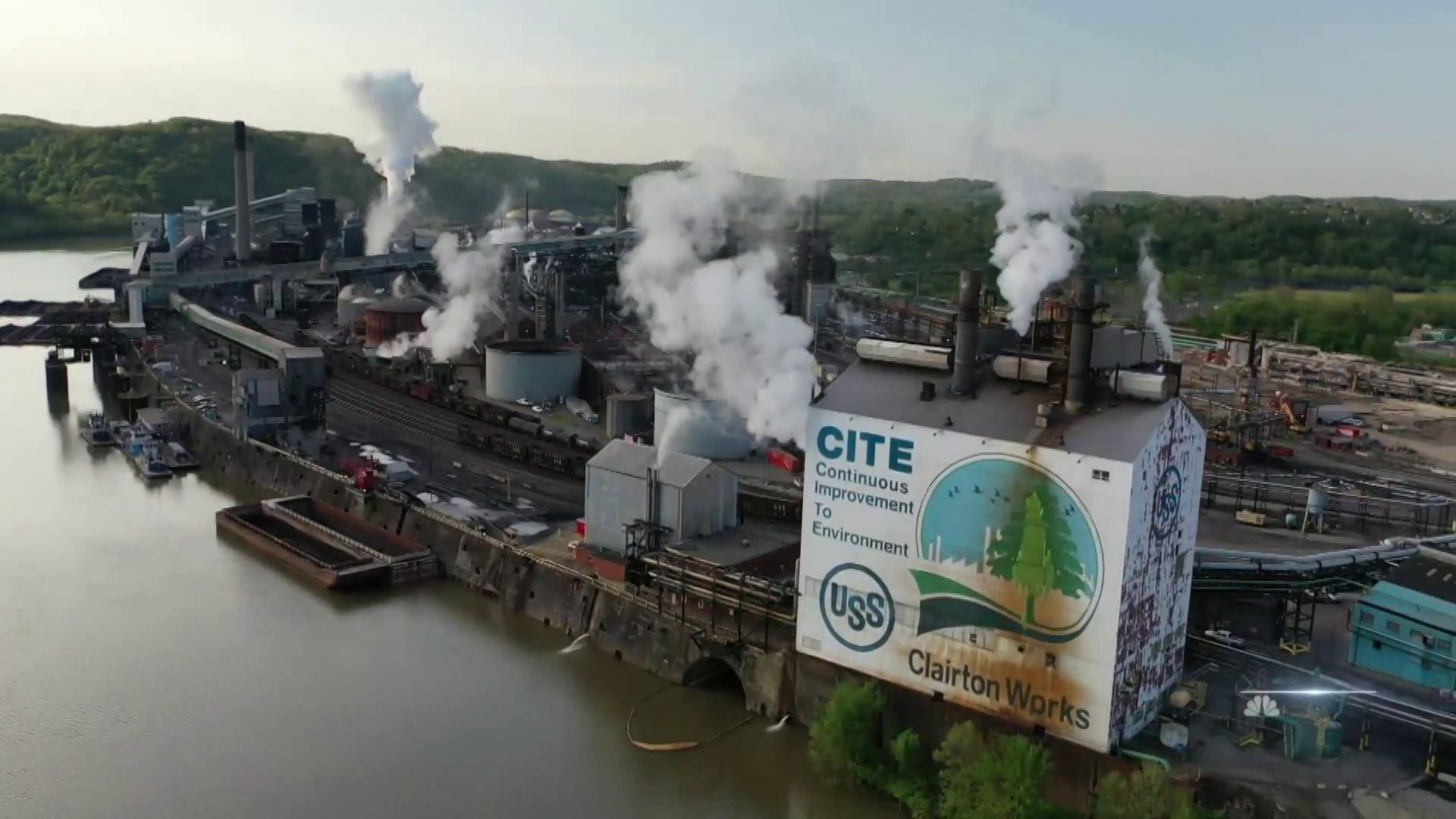 Residents concerned about air quality in shadow of Pennsylvania steel plant