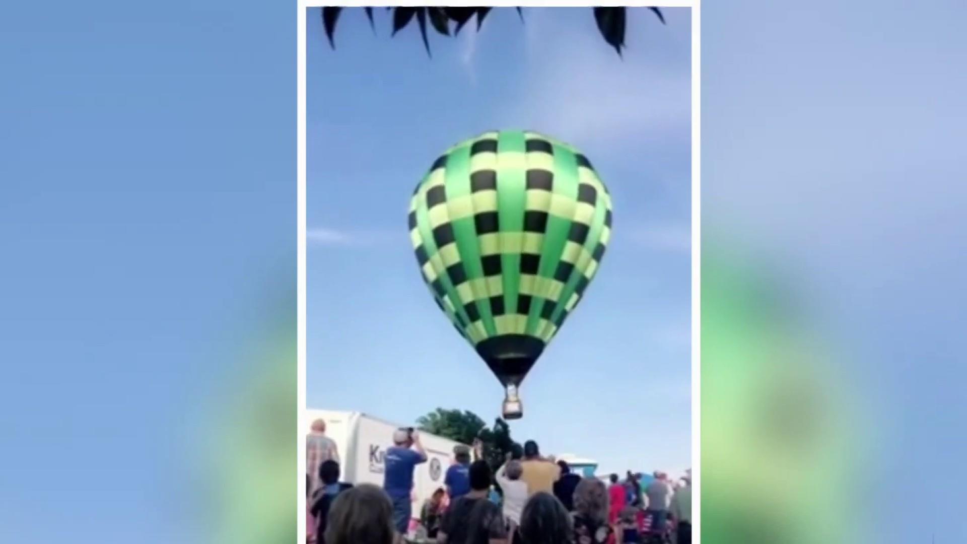 Hot air balloon crashes into crowd at Missouri festival