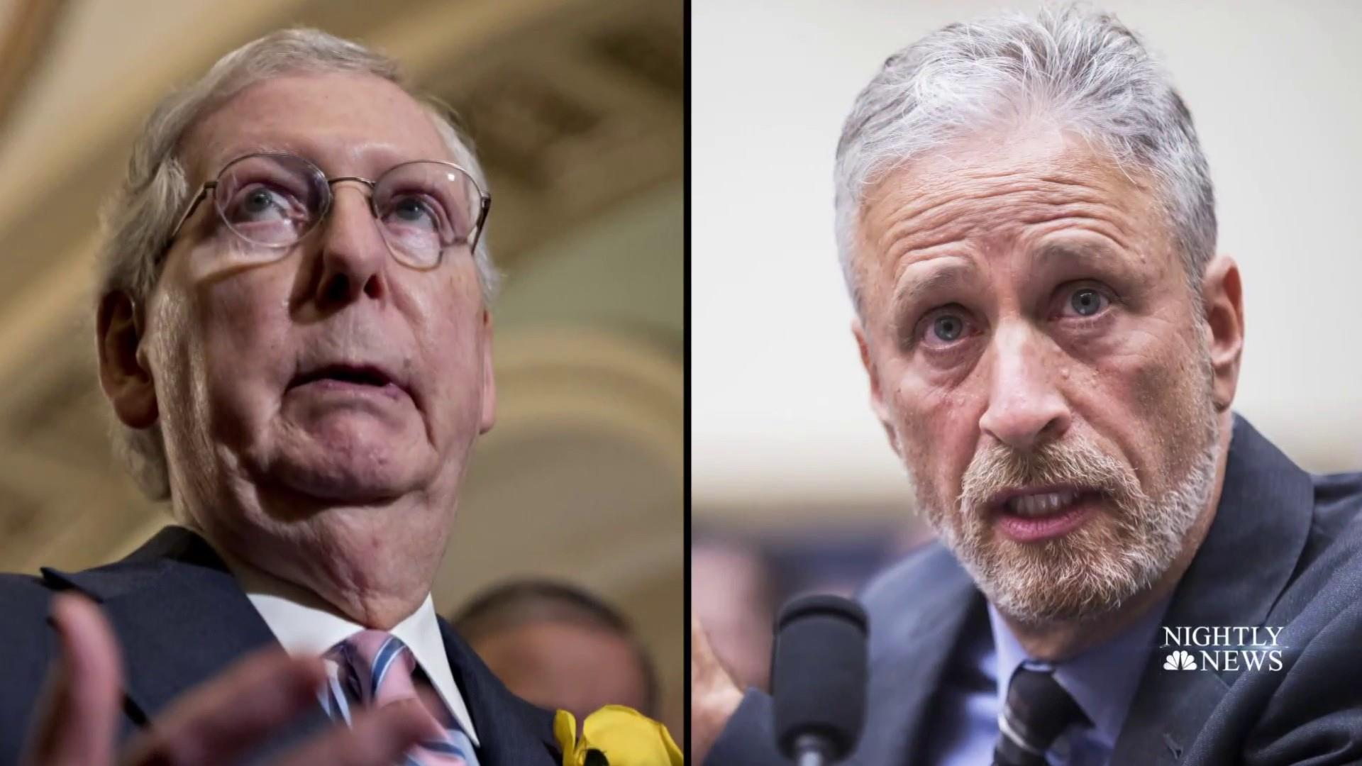 Escalating war of words between Jon Stewart and Mitch McConnell