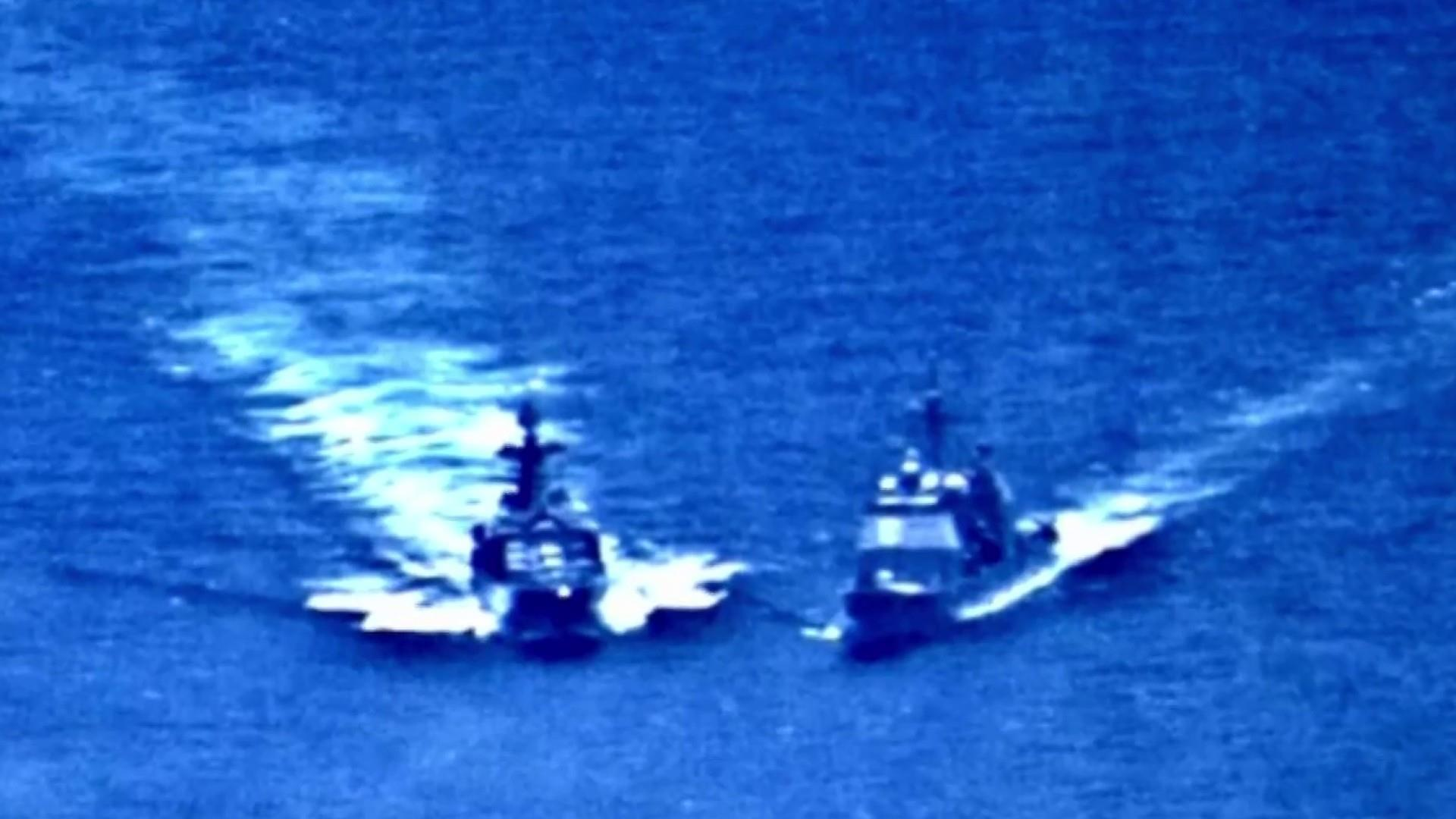 Russian ship nearly collides with U.S. warship in Philippine Sea