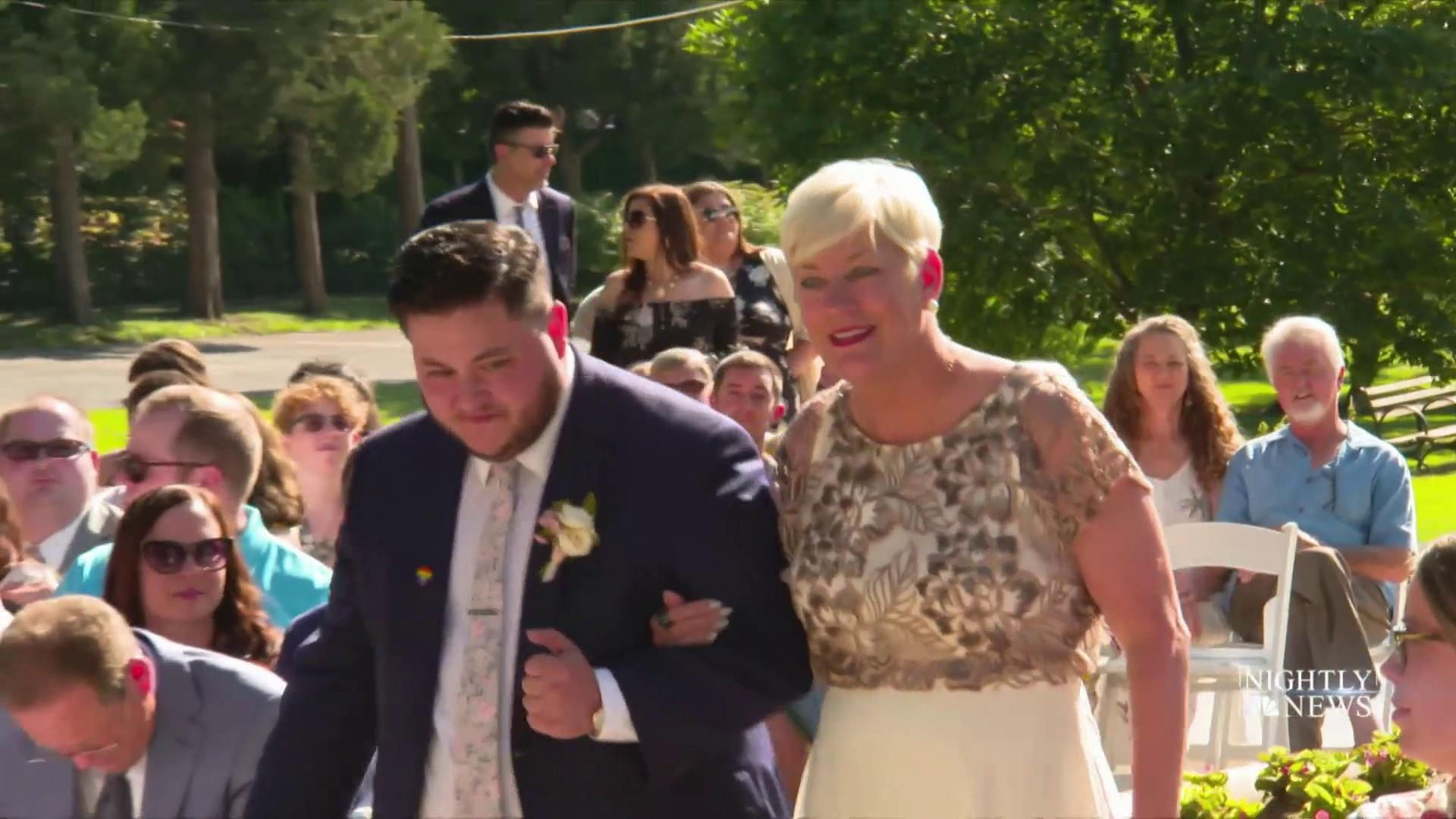 Meet the mom who offers to be a stand-in parent at LGBTQ+ weddings