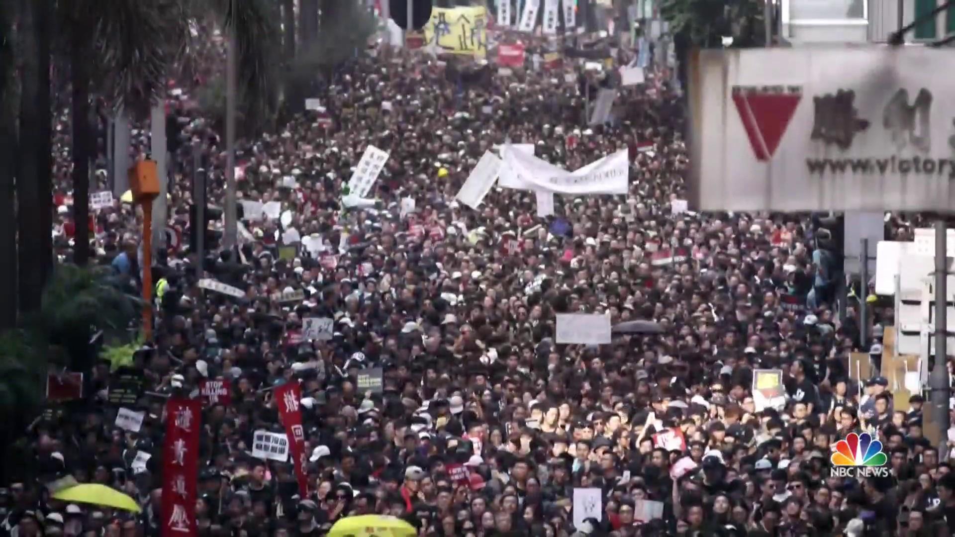 Hong Kong demonstrators demand permanent end to extradition bill