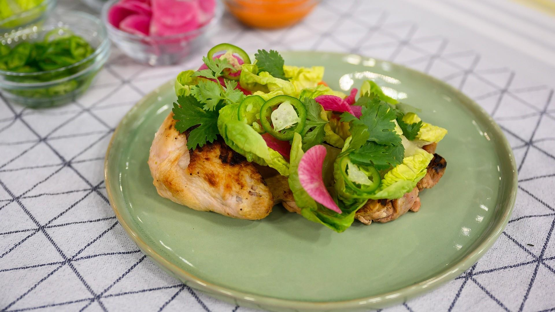 Make James Kent's summer chicken and herb salad