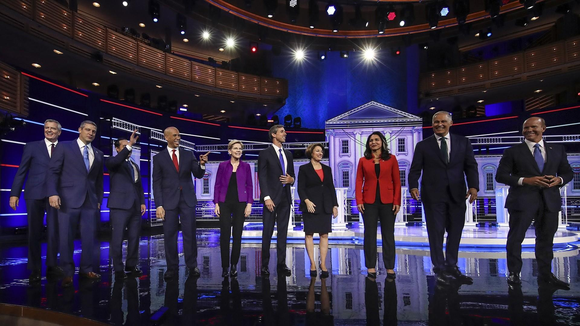 See highlights from the 1st Democratic primary debate