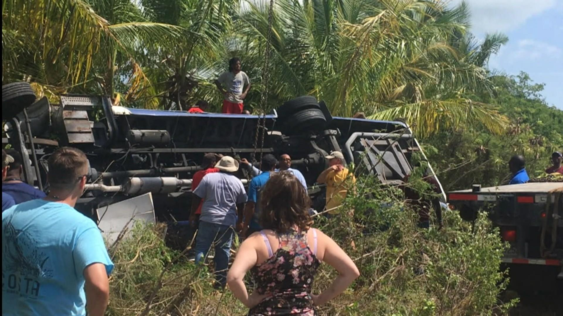 Cruise passengers airlifted to Florida after Bahamas bus crash