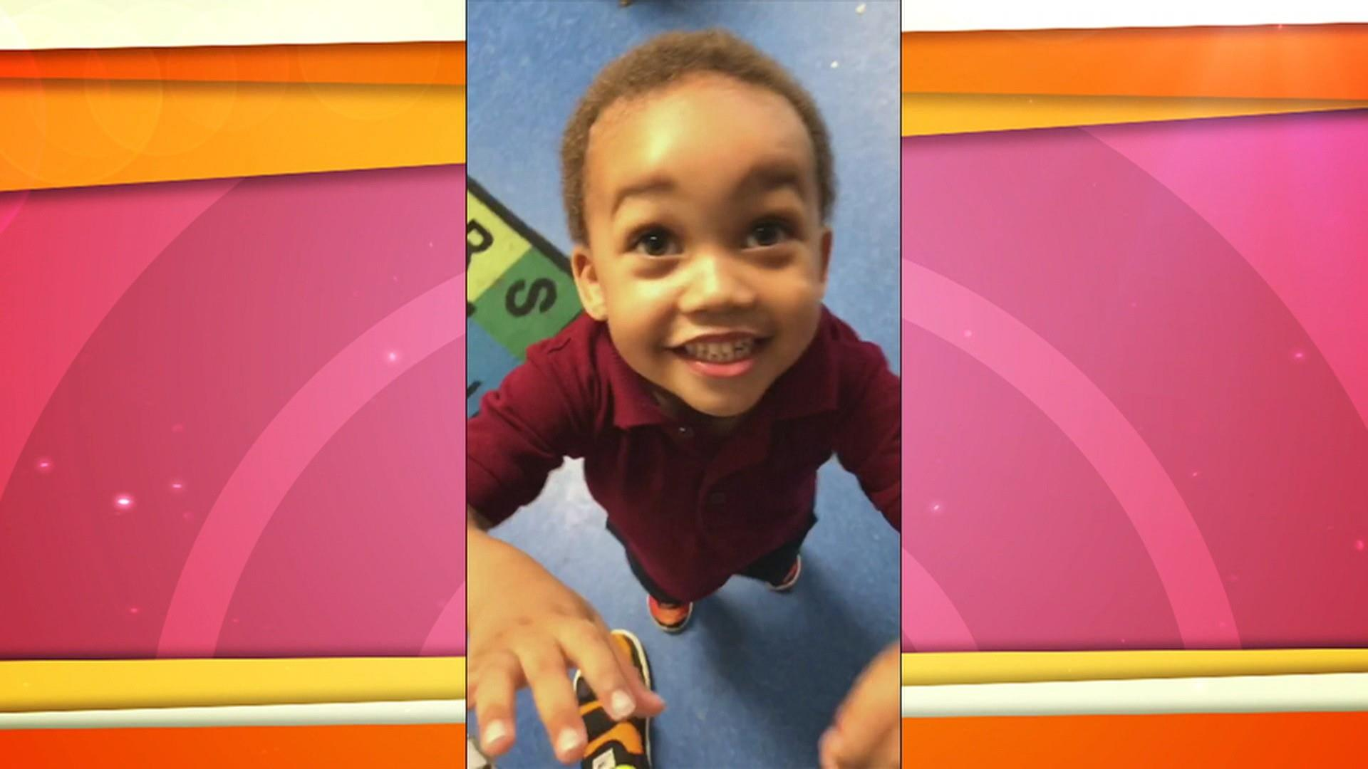 'Daddy!' A preschooler is always overjoyed to see Dad