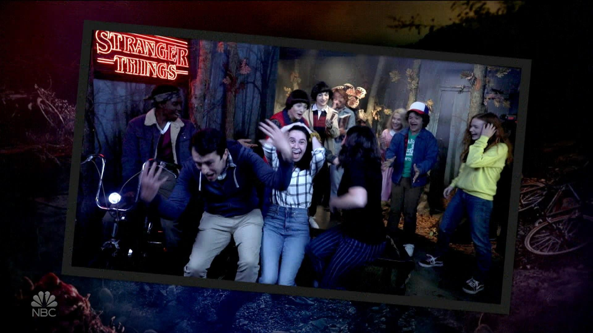 Jimmy Fallon and 'Stranger Things' kids trick tourists at wax museum