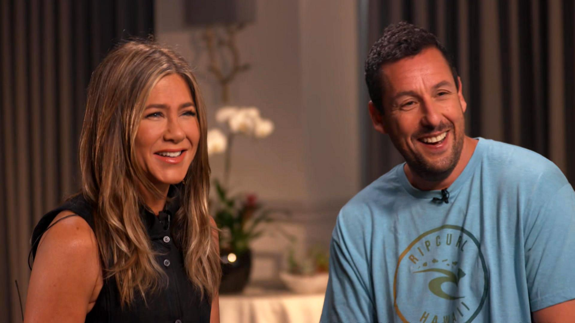Jennifer Aniston, Adam Sandler talk 'Murder Mystery' and 30-year friendship