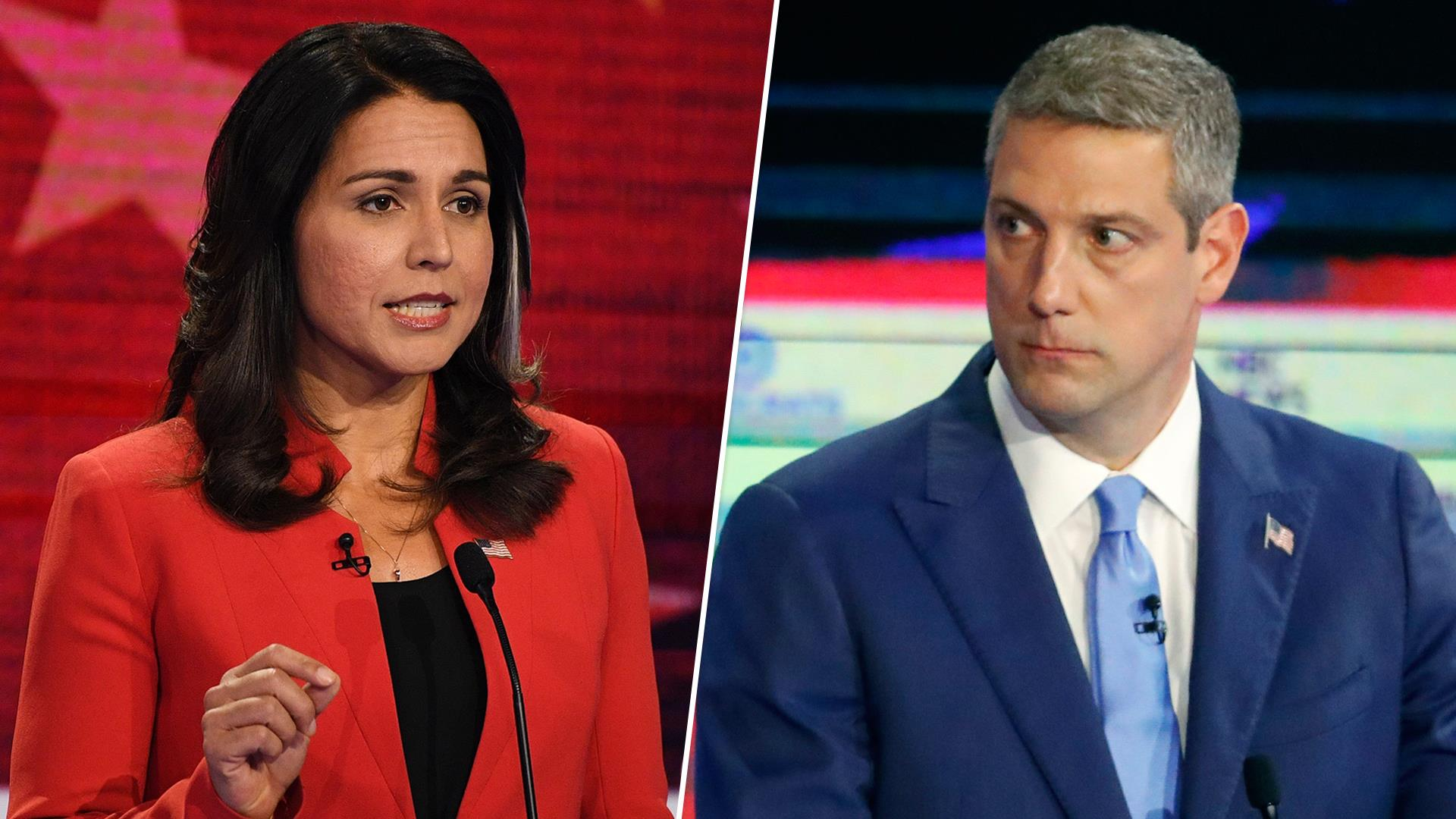 Tim Ryan and Tulsi Gabbard spar on Afghanistan, foreign policy