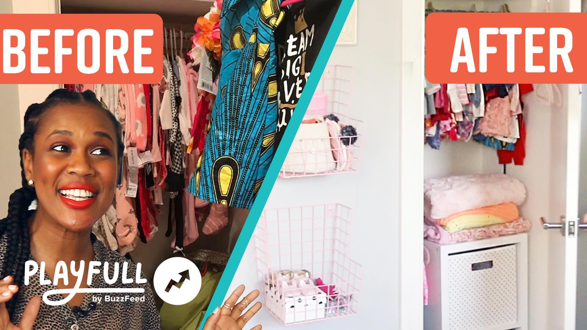 Mom gets nursery closet dream makeover
