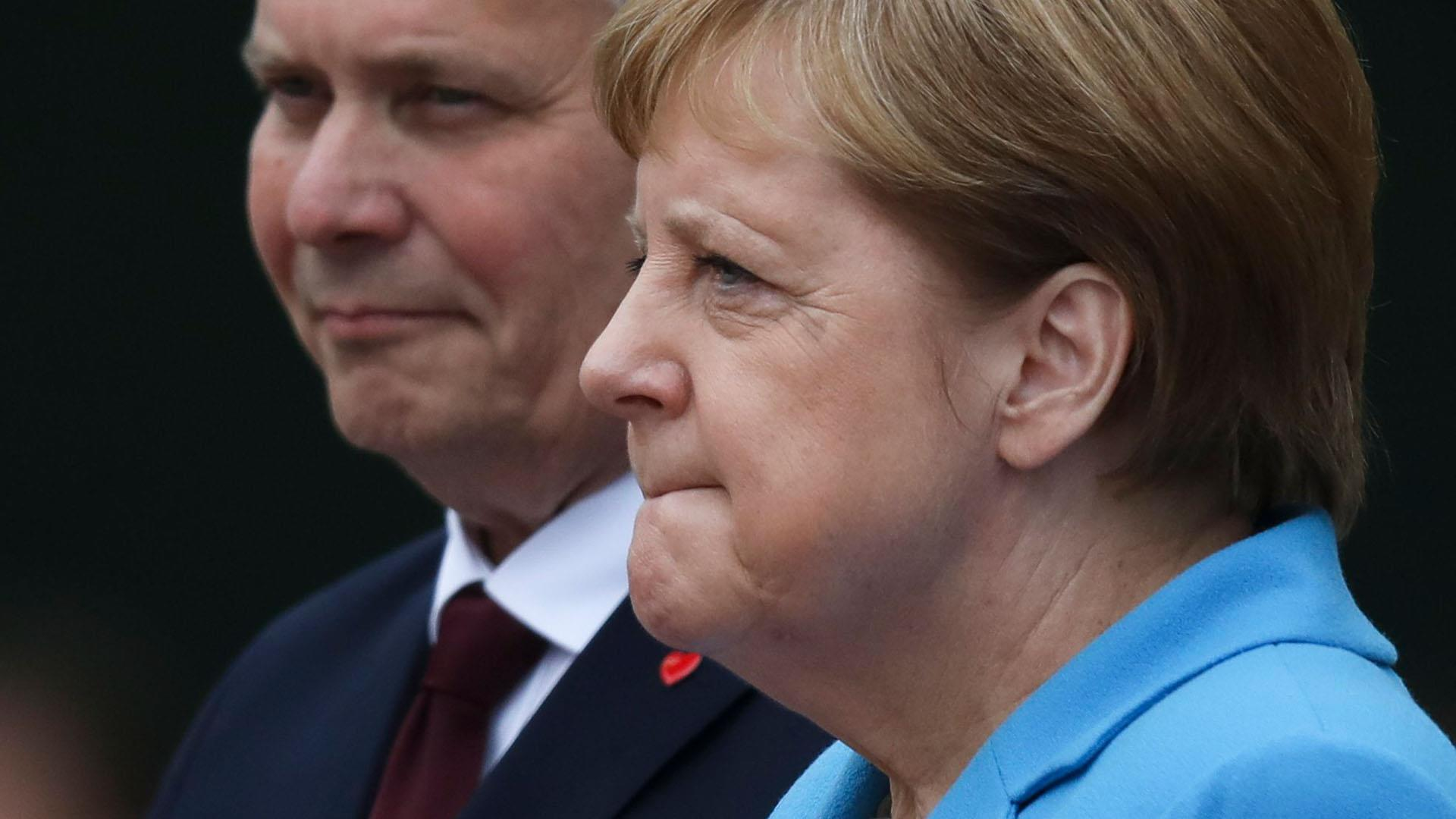 Angela Merkel seen shaking in public for third time in a month