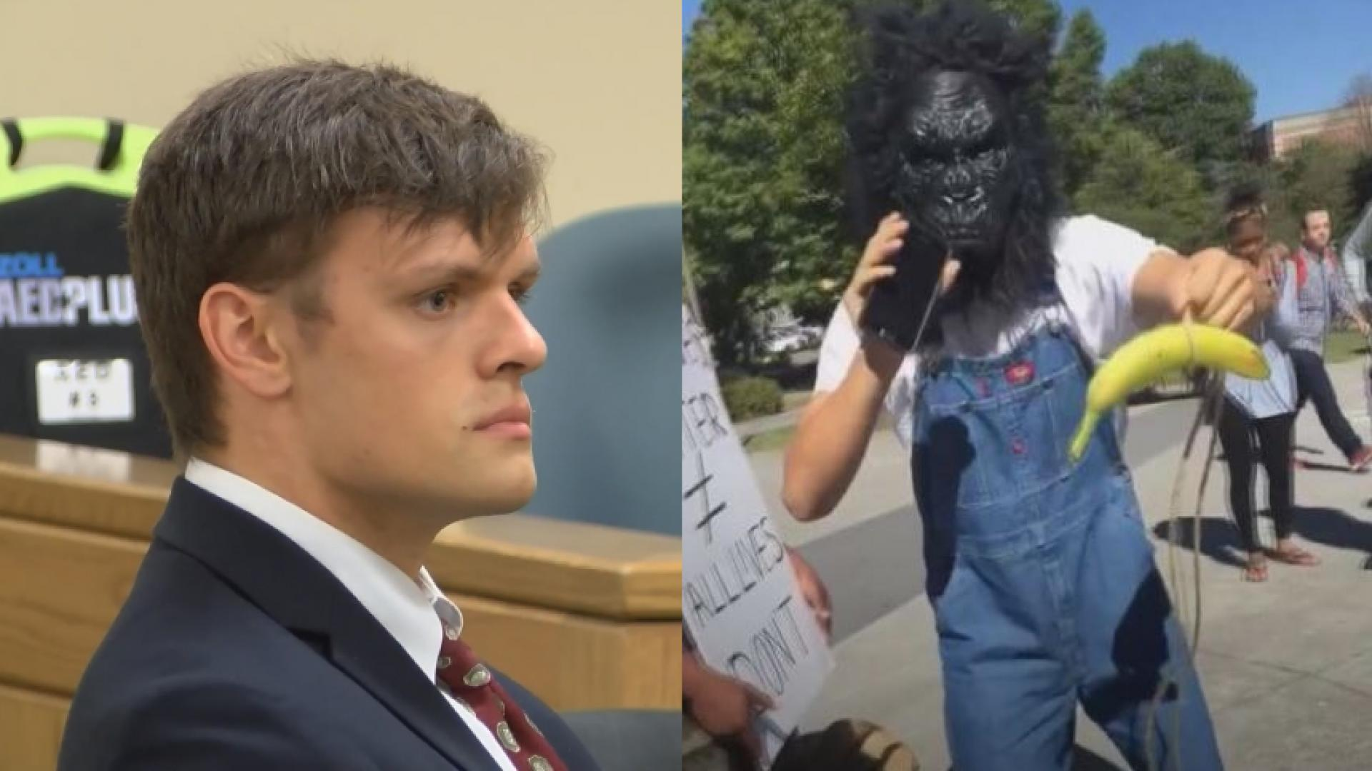 Student arrested for wearing gorilla mask to Black Lives Matter rally cleared of most charges