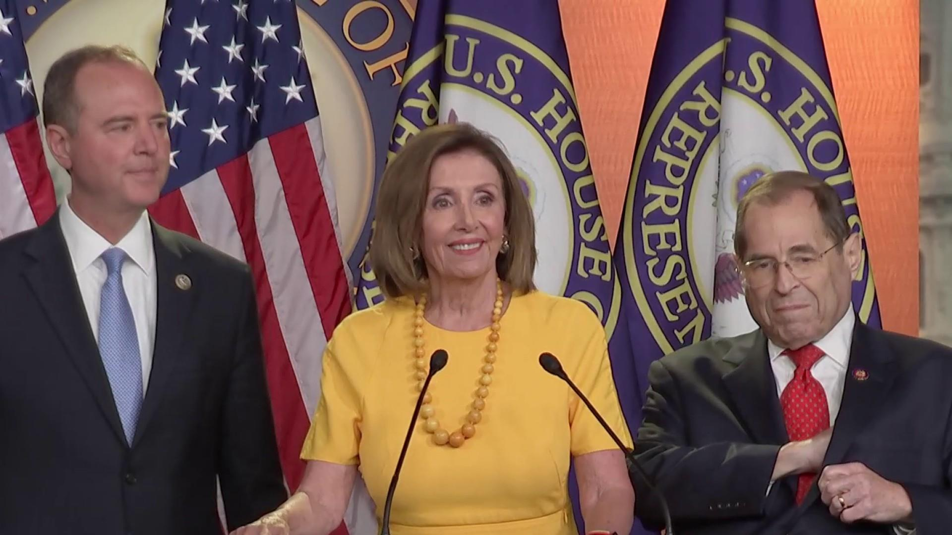 Watch full response from Democratic leadership to Mueller hearing