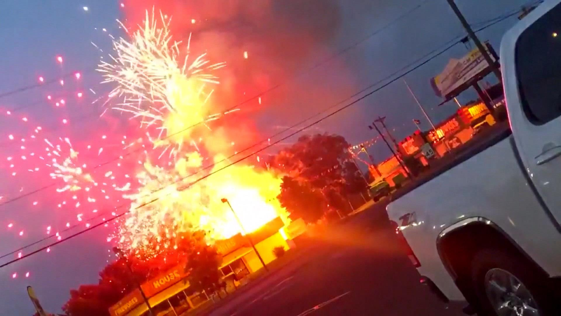 Accidental fireworks display caused by fire at fireworks store in South  Carolina