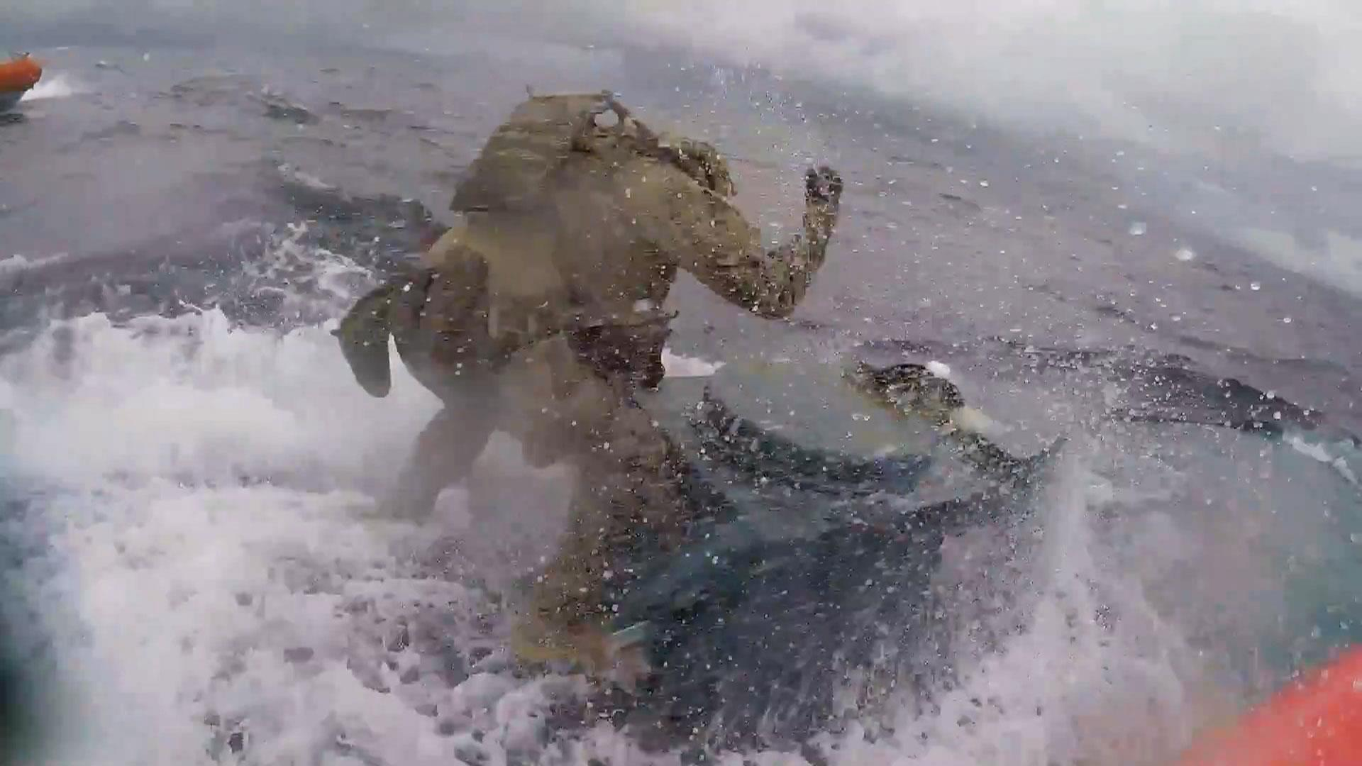 Dramatic video shows Coast Guard leaping onto submarine carrying 17,000 pounds of cocaine