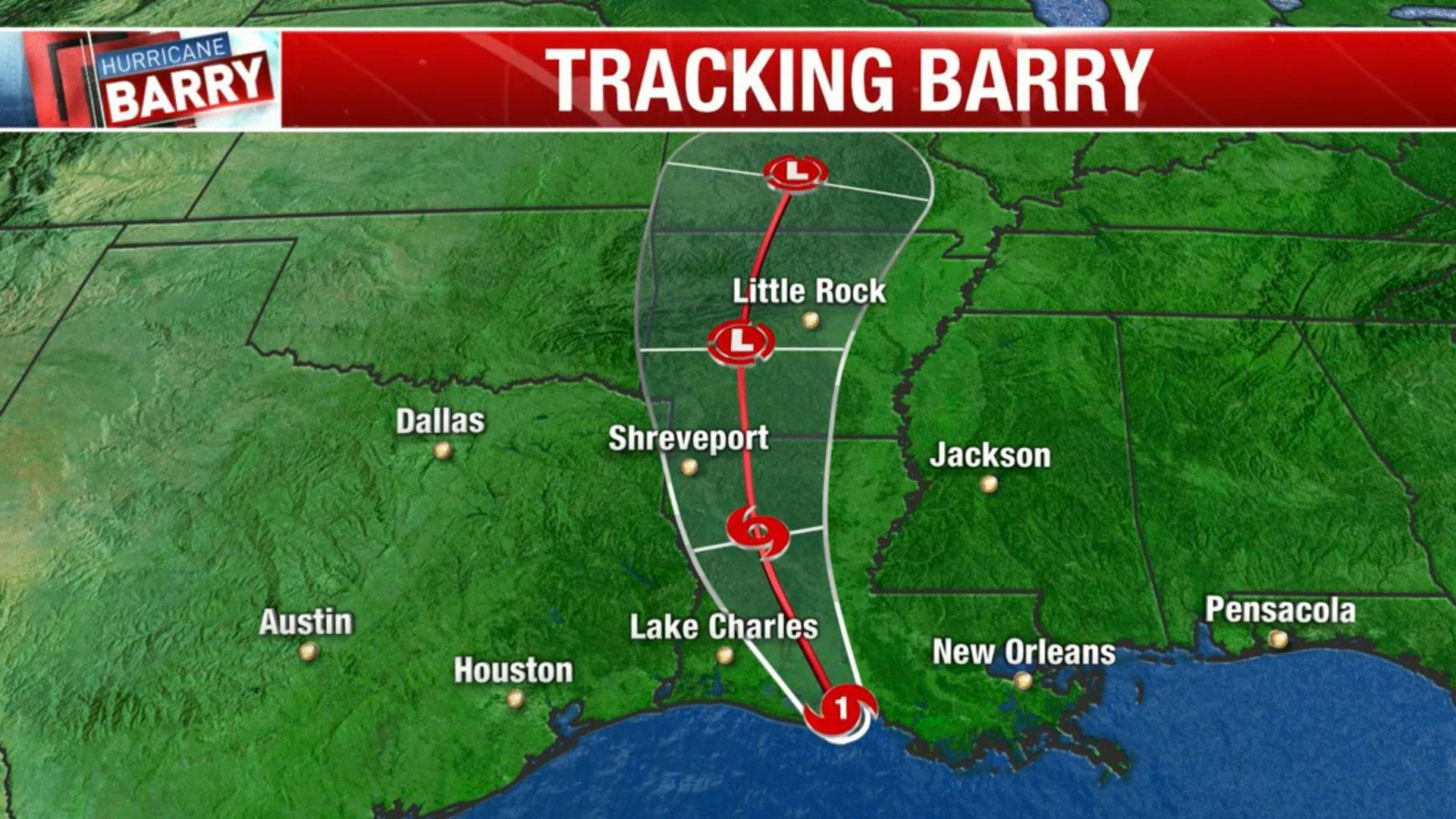 Watch Live Radar Tracks Tropical Storm Barry As It Heads Towards