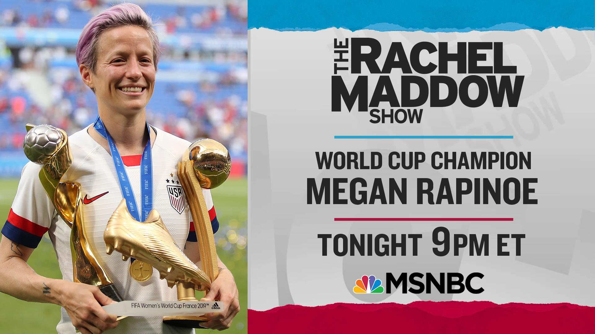 Rapinoe, Sanders, Harris make week of big Maddow show interviews