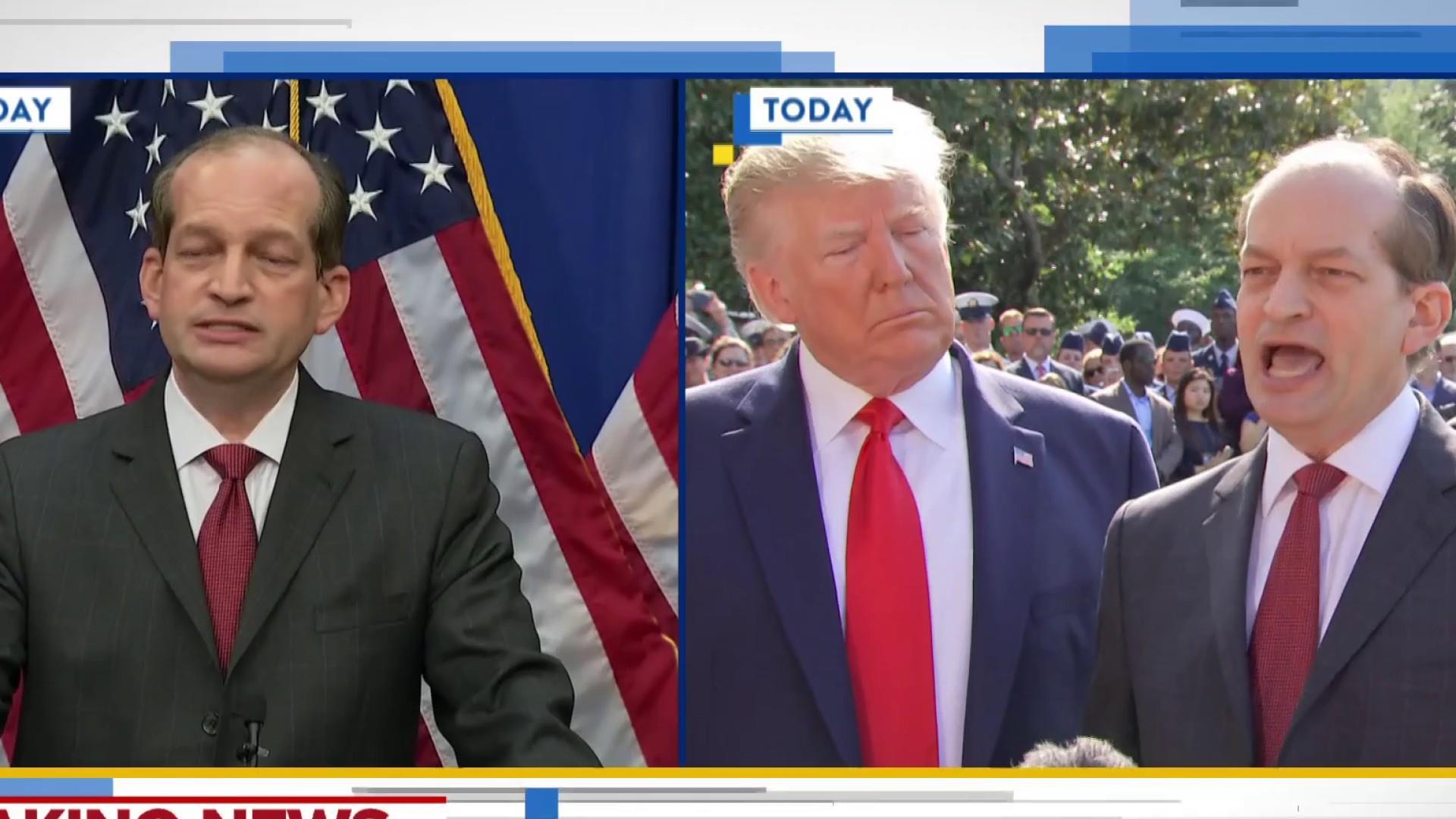 Trump cracks under pressure, bails on Acosta