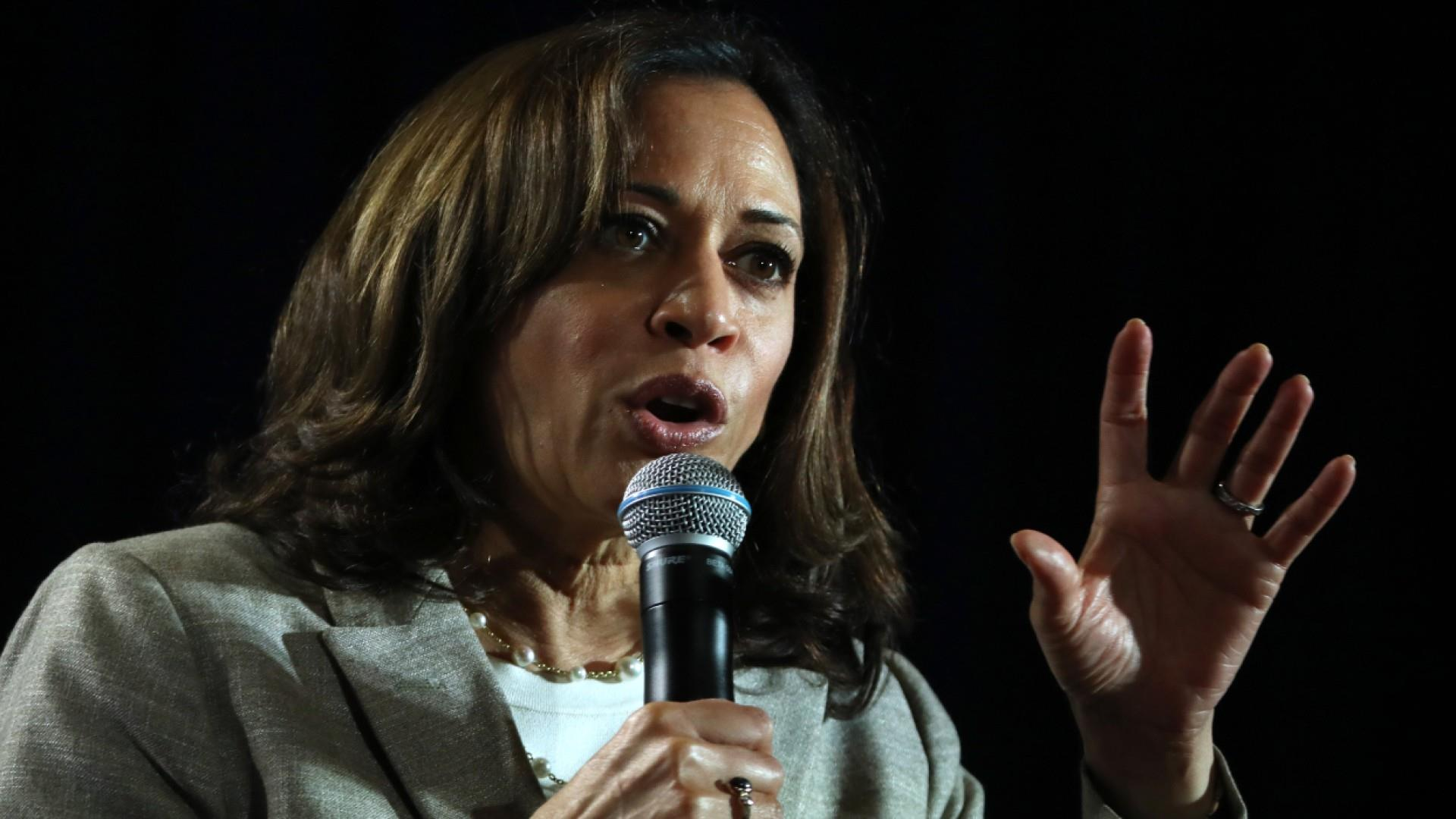 Kamala Harris on Trump's racist tweets: 'Vile, ignorant... how low can he go?'