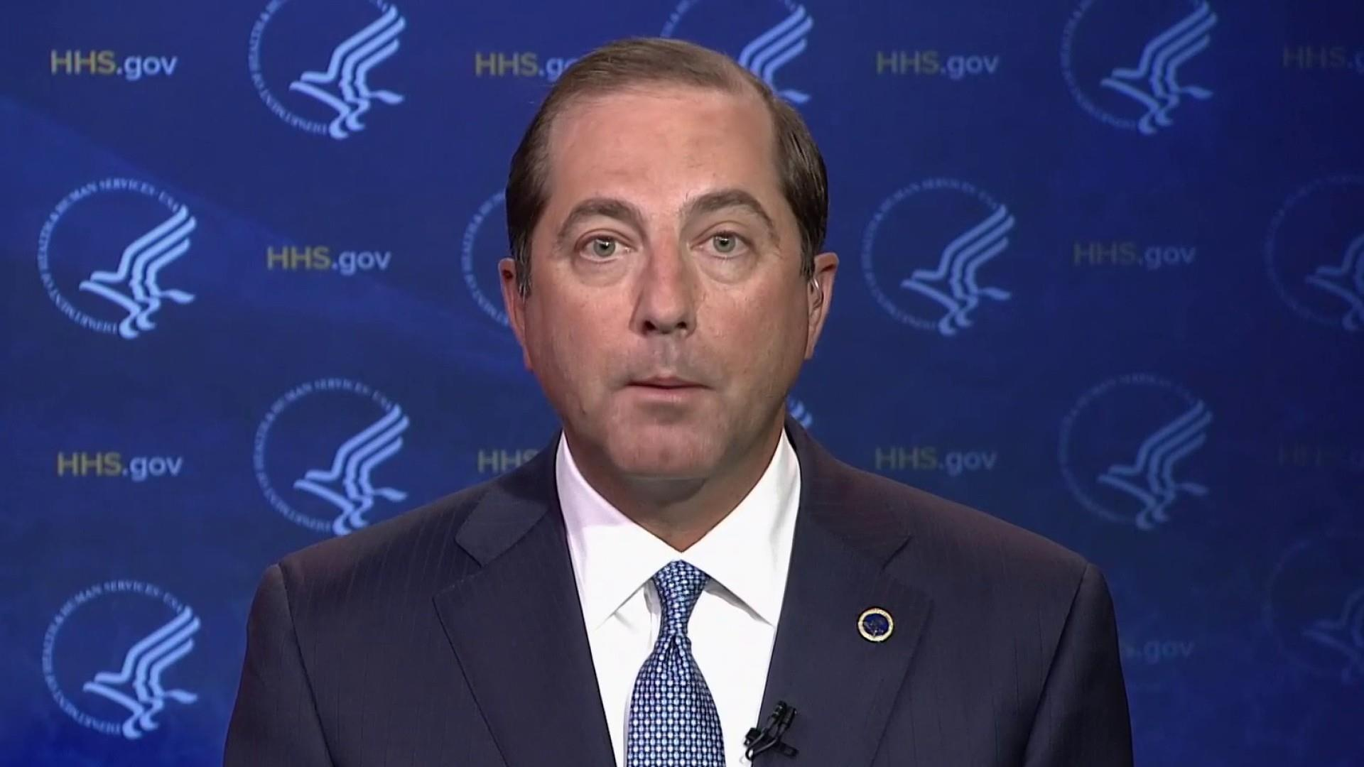 HHS Sec. Azar on plan to import Canadian drugs: 'We're open for business'