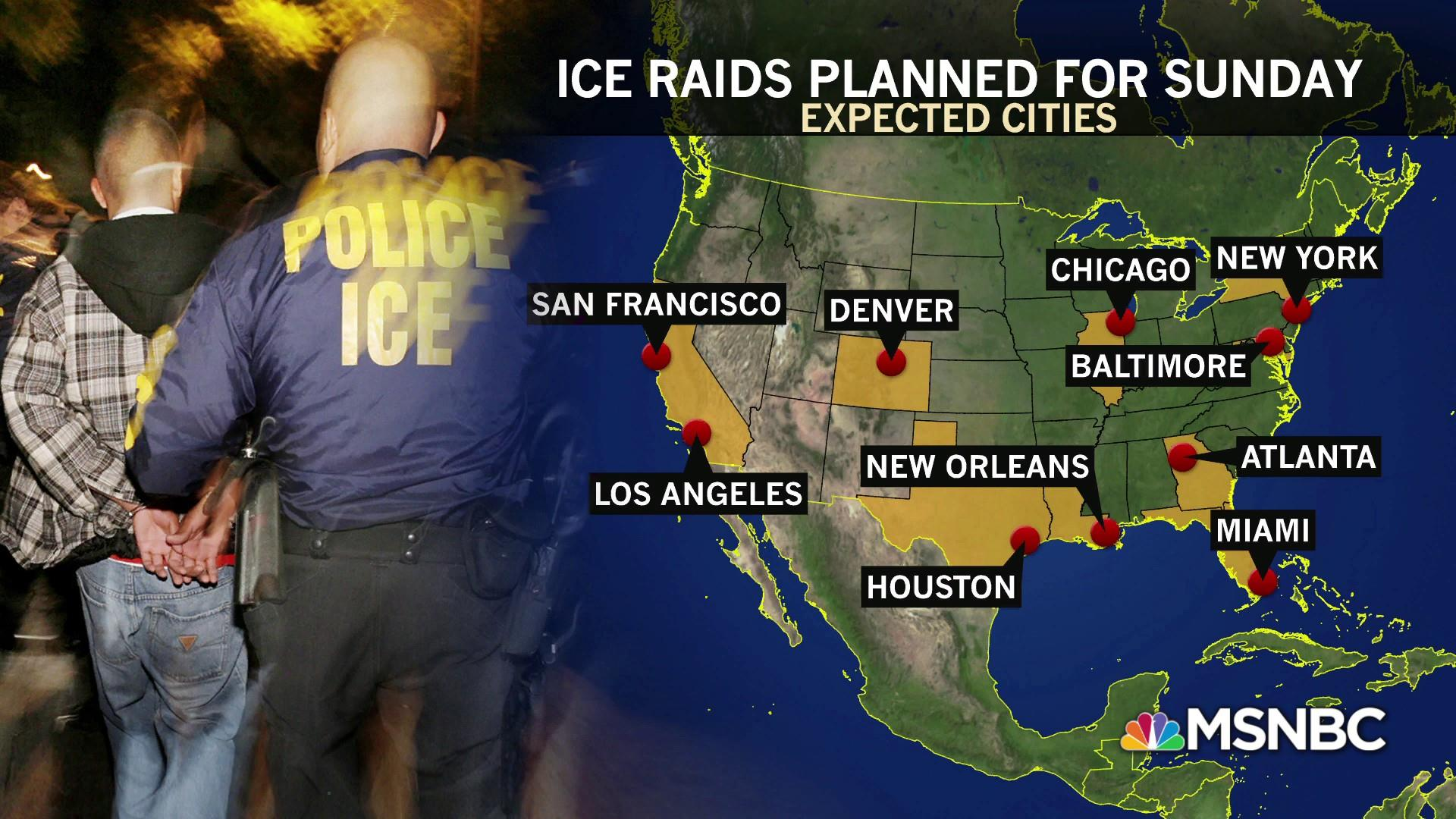 ICE raids won't only affect immigrants with high threat criminal record
