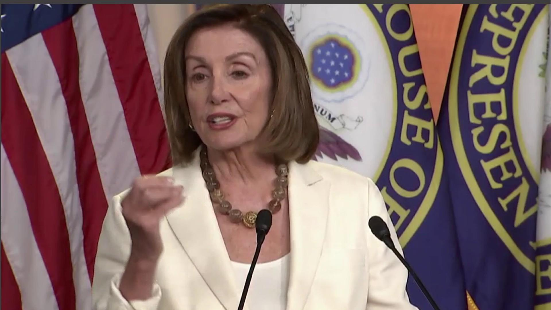 After racist Trump attack, Pelosi pushes policy