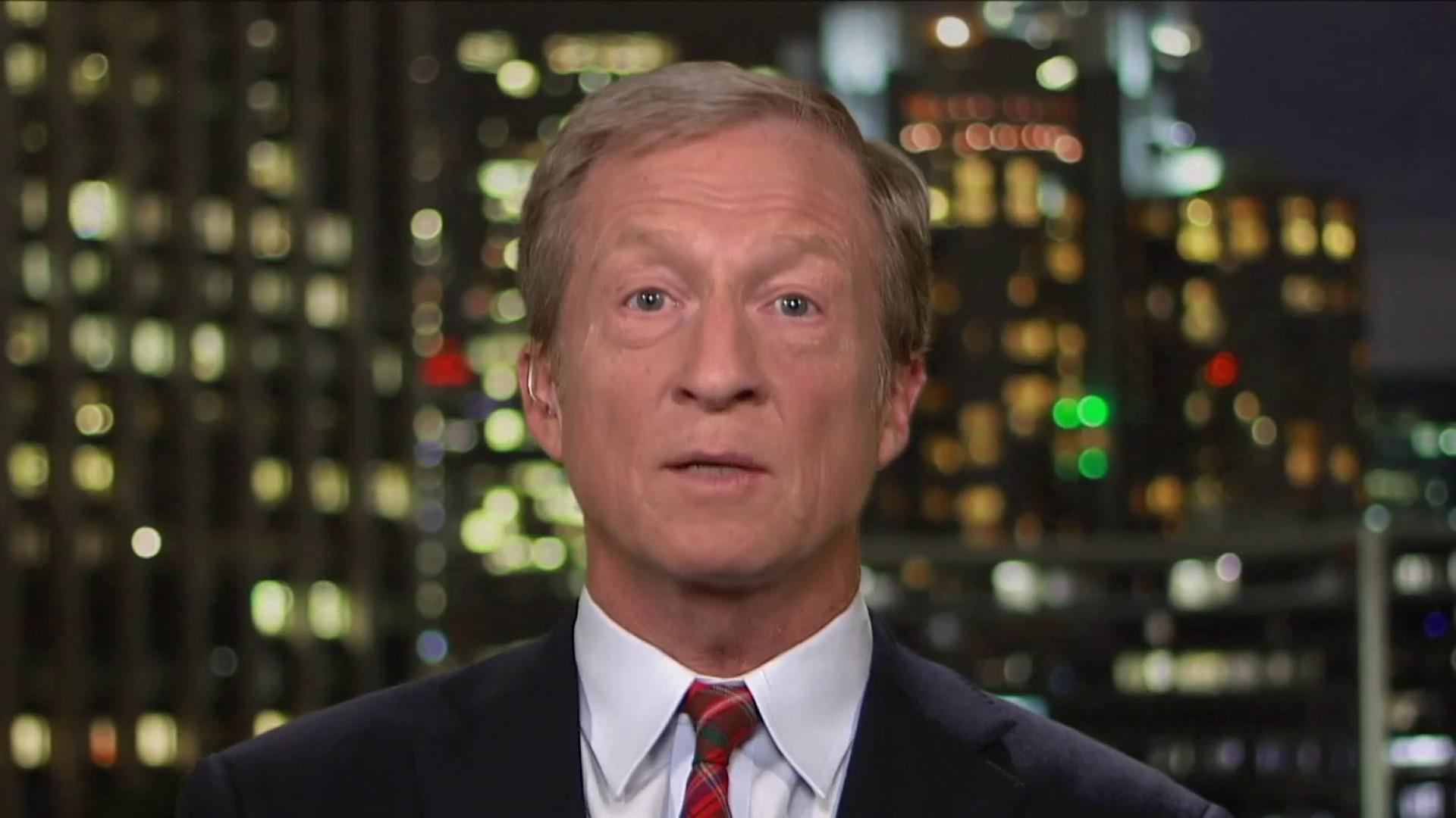 Tom Steyer unveils climate plan