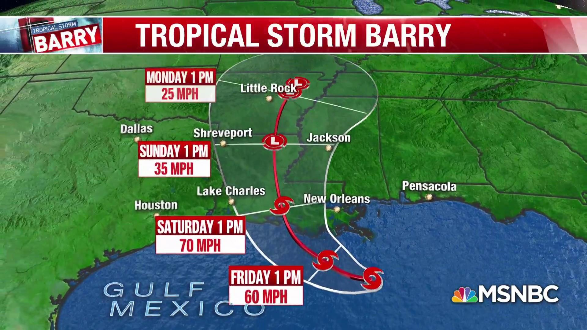 New Orleans faces massive flooding as Tropical Storm Barry bares down