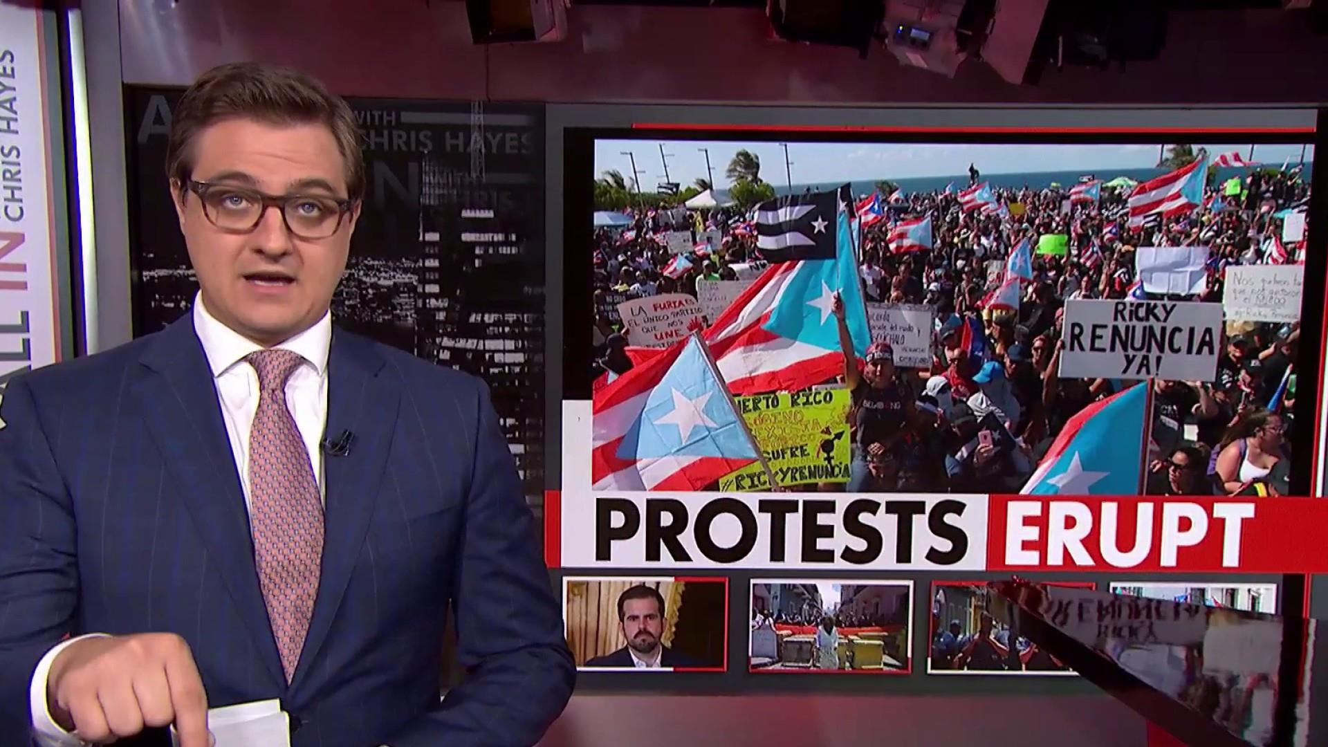 Growing calls for governor of Puerto Rico to resign