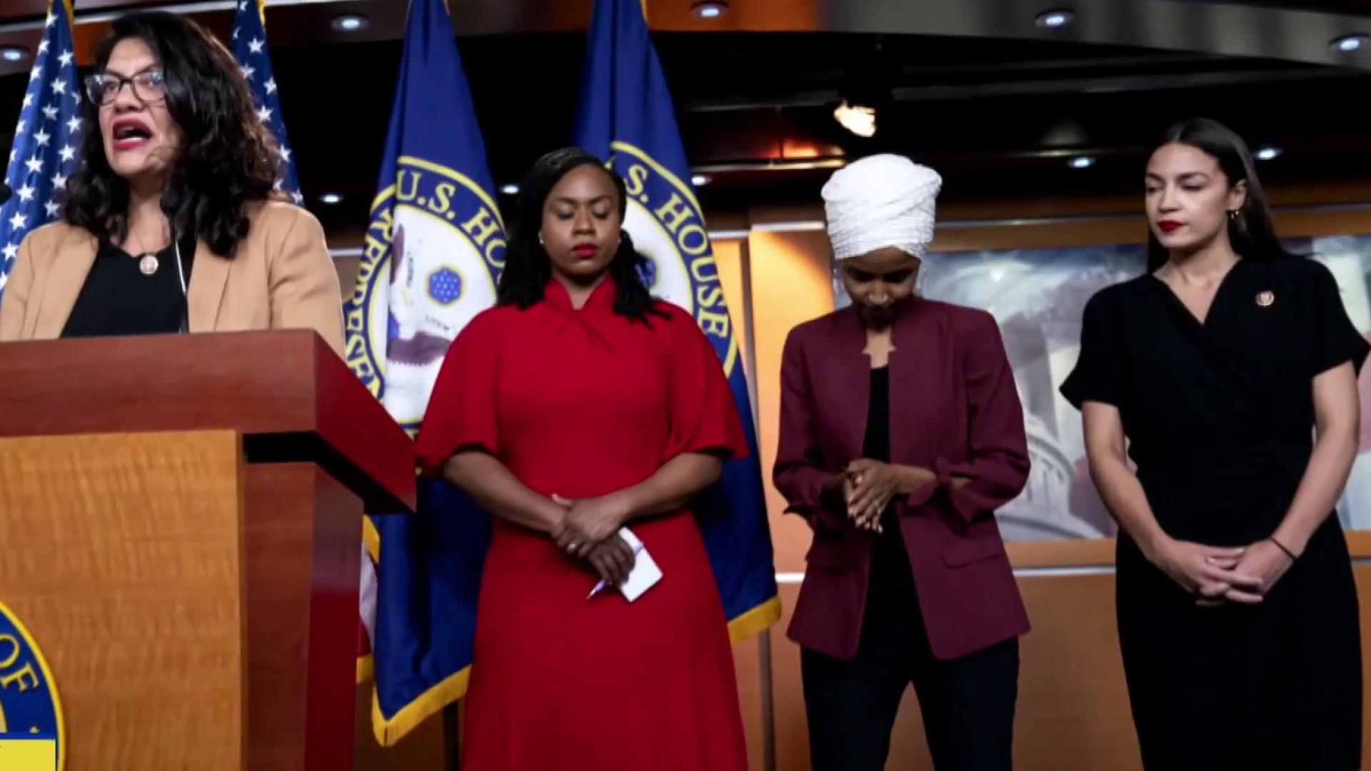 House Democrats pledge unity after Trump attacks 'The Squad'