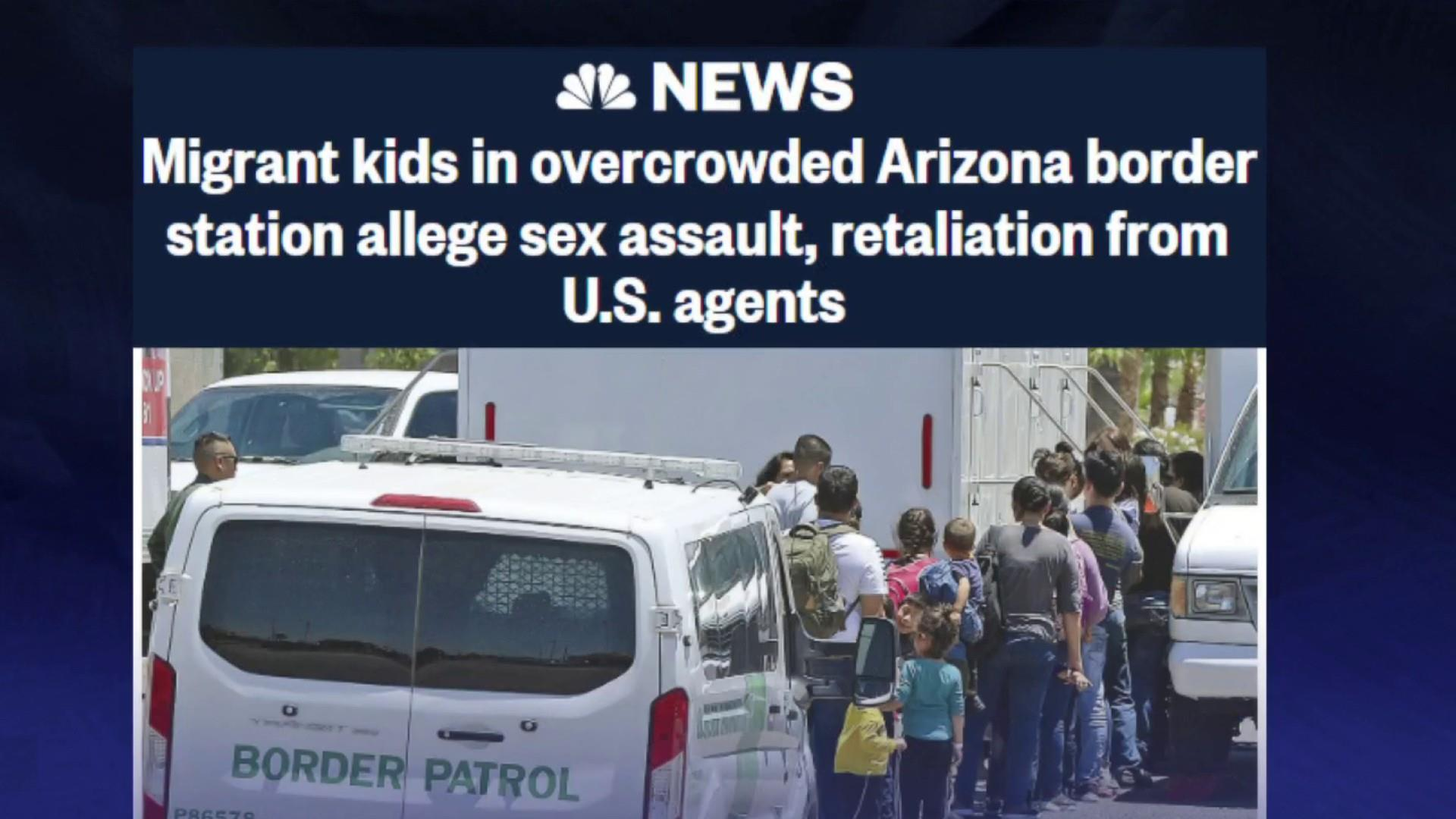 NBC: Migrant kids report disturbing conditions, misconduct by agents at Arizona border station