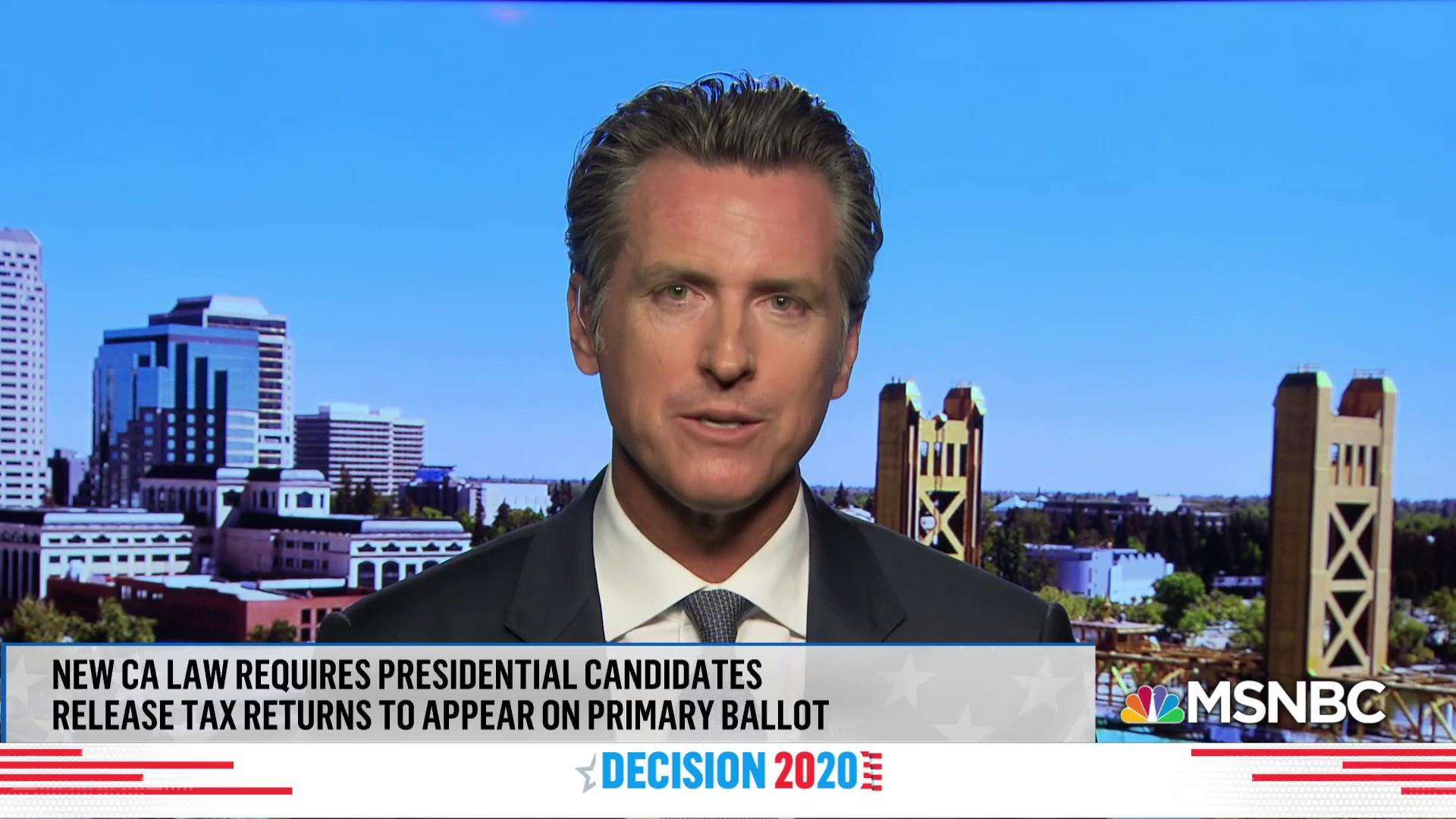 Newsom signs first law requiring candidates to reveal taxes