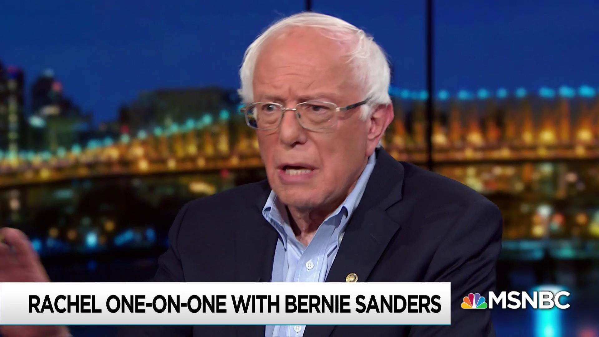 Sanders: 'We are fighting for the future of the planet'