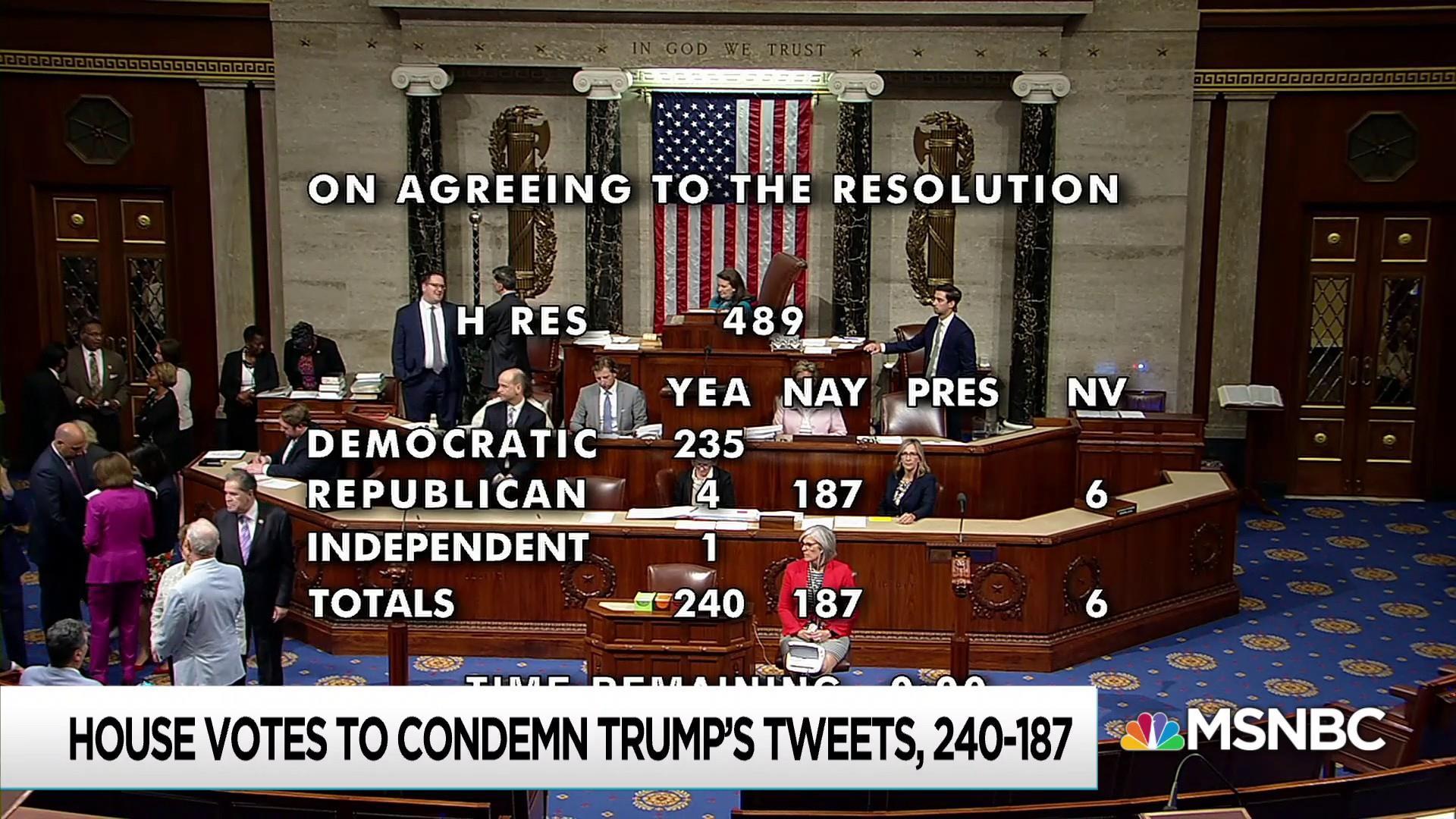 Democrats look for bipartisanship in condemnation of Trump racism