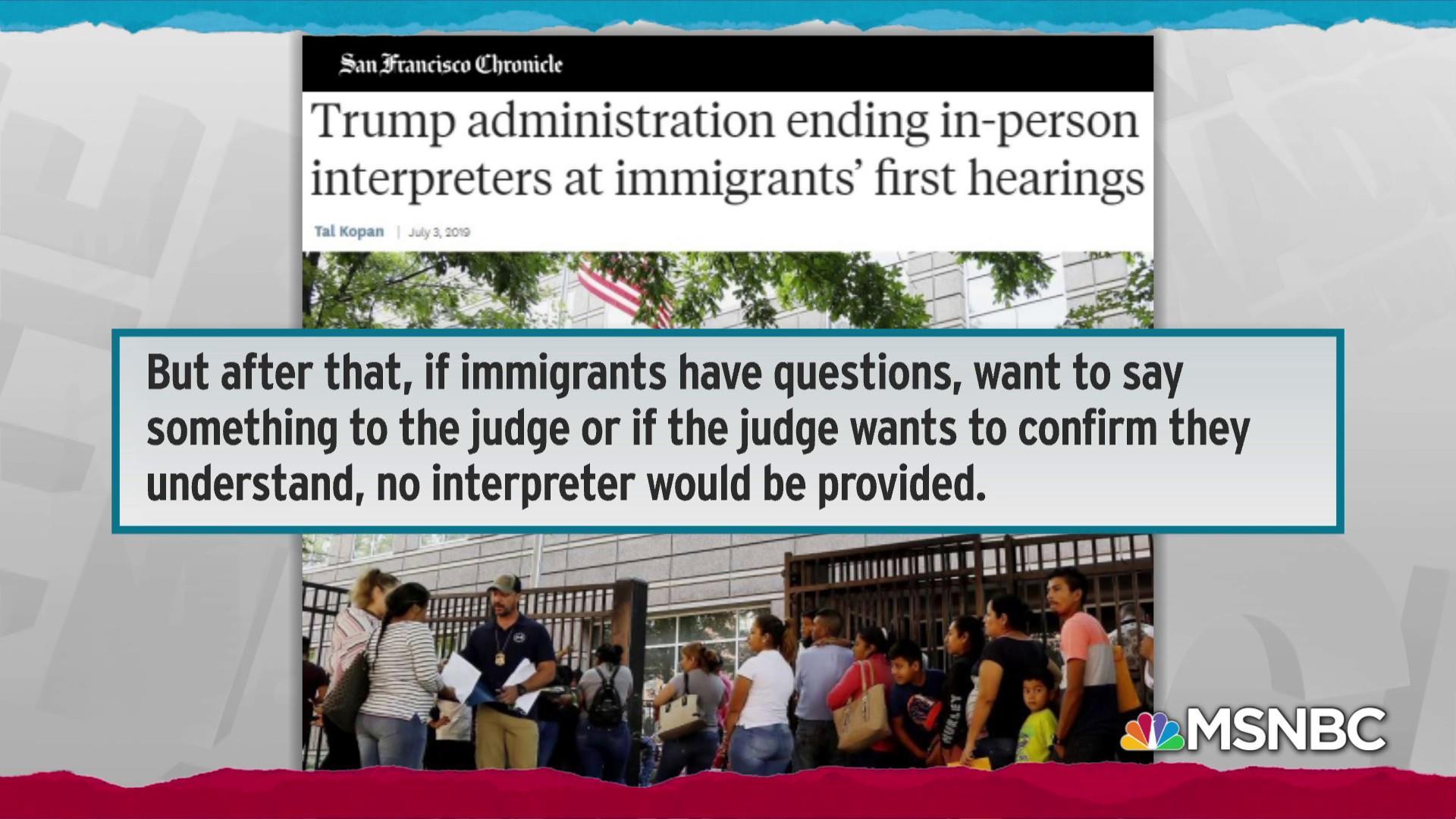 Trump admin rolls out latest cruel tactic against immigrants