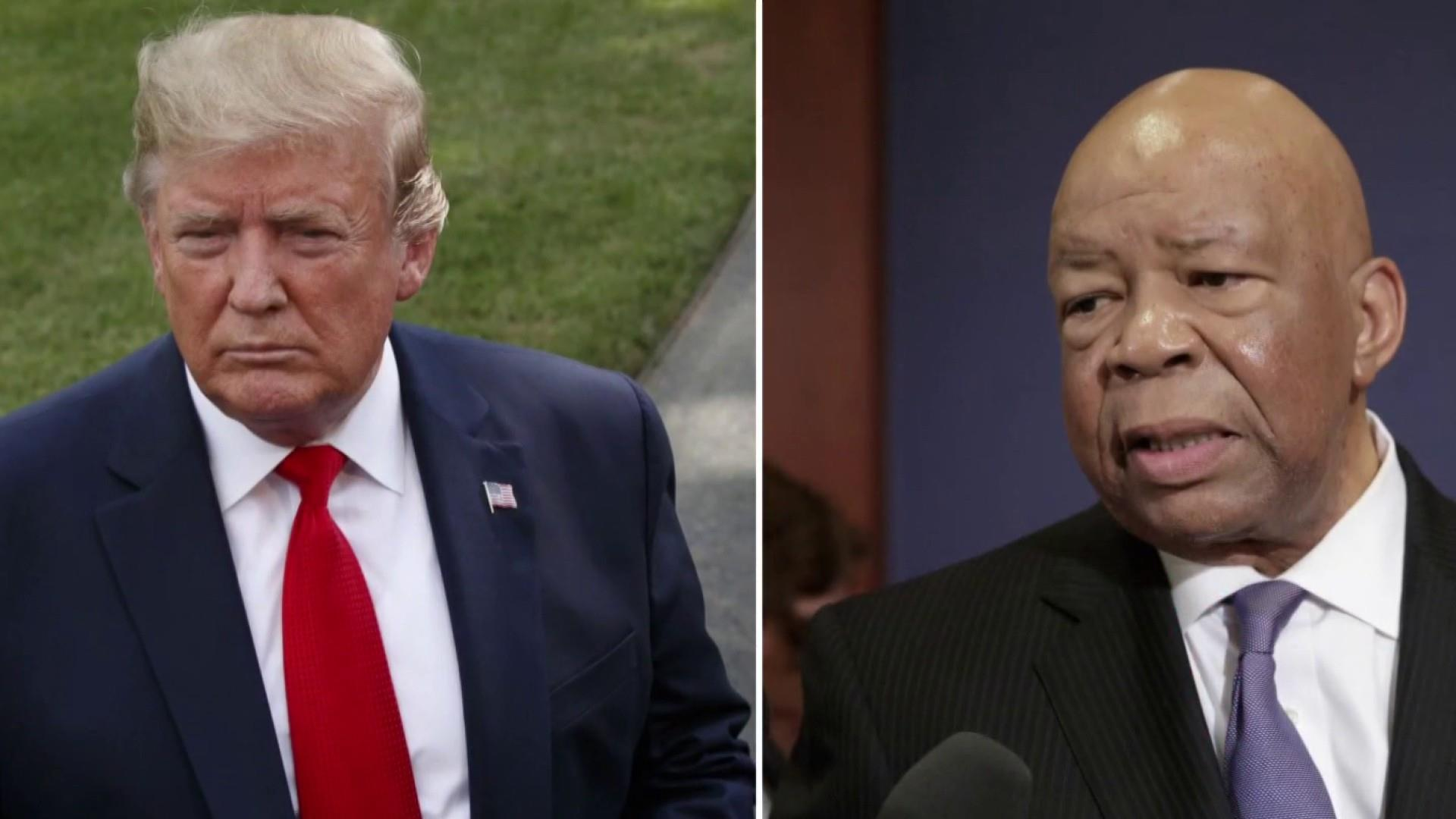 Trump defends racist attacks on Rep. Cummings, City of Baltimore